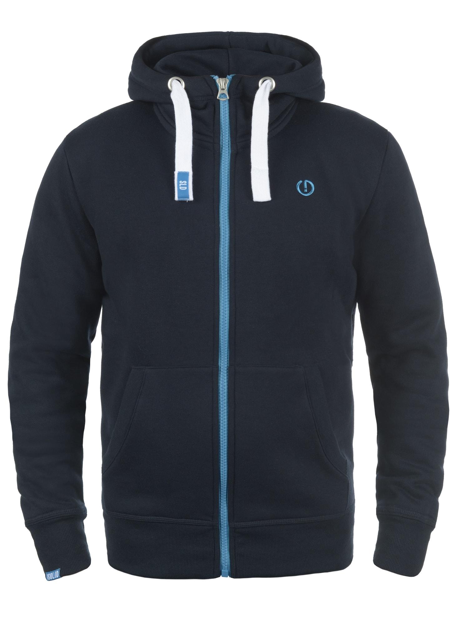 Kapuzensweatjacke 'Benn High-Neck' | Bekleidung > Sweatshirts & -jacken > Sweatjacken | Blau - Dunkelblau | !solid