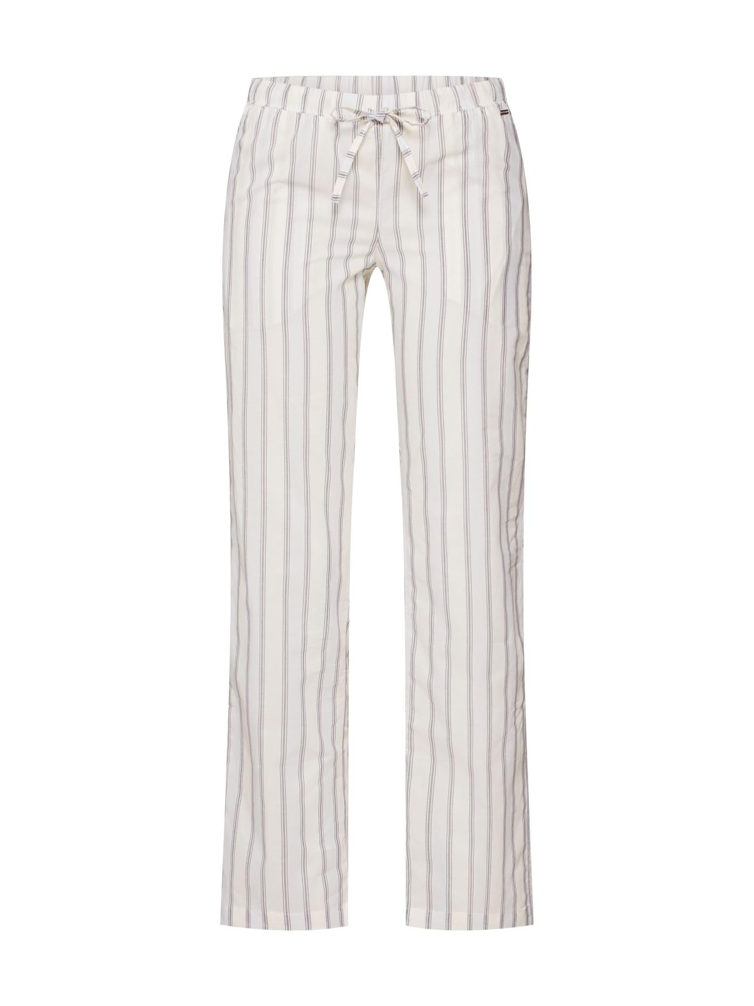 Pyžamové kalhoty béžová světlemodrá bílá LASCANA