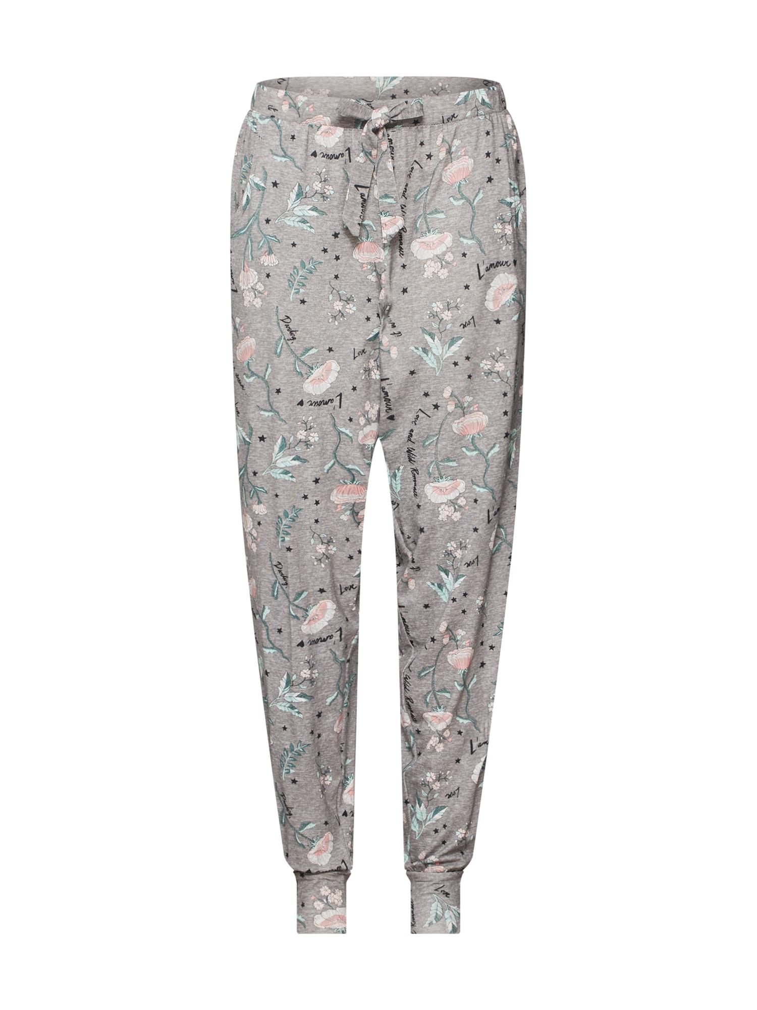 Pyžamové kalhoty Flower šedá mix barev Hunkemöller