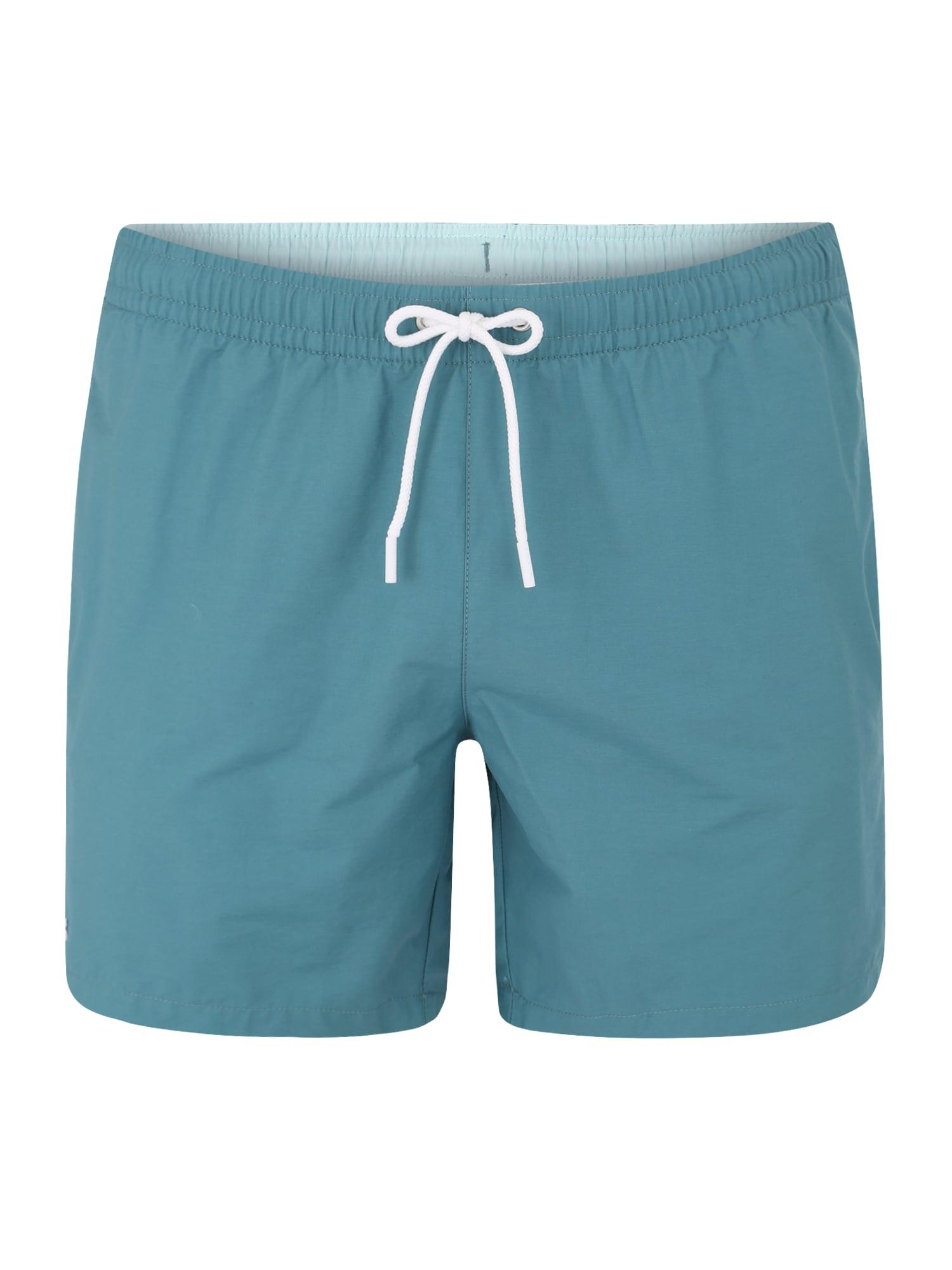 Plavecké šortky nebeská modř LACOSTE