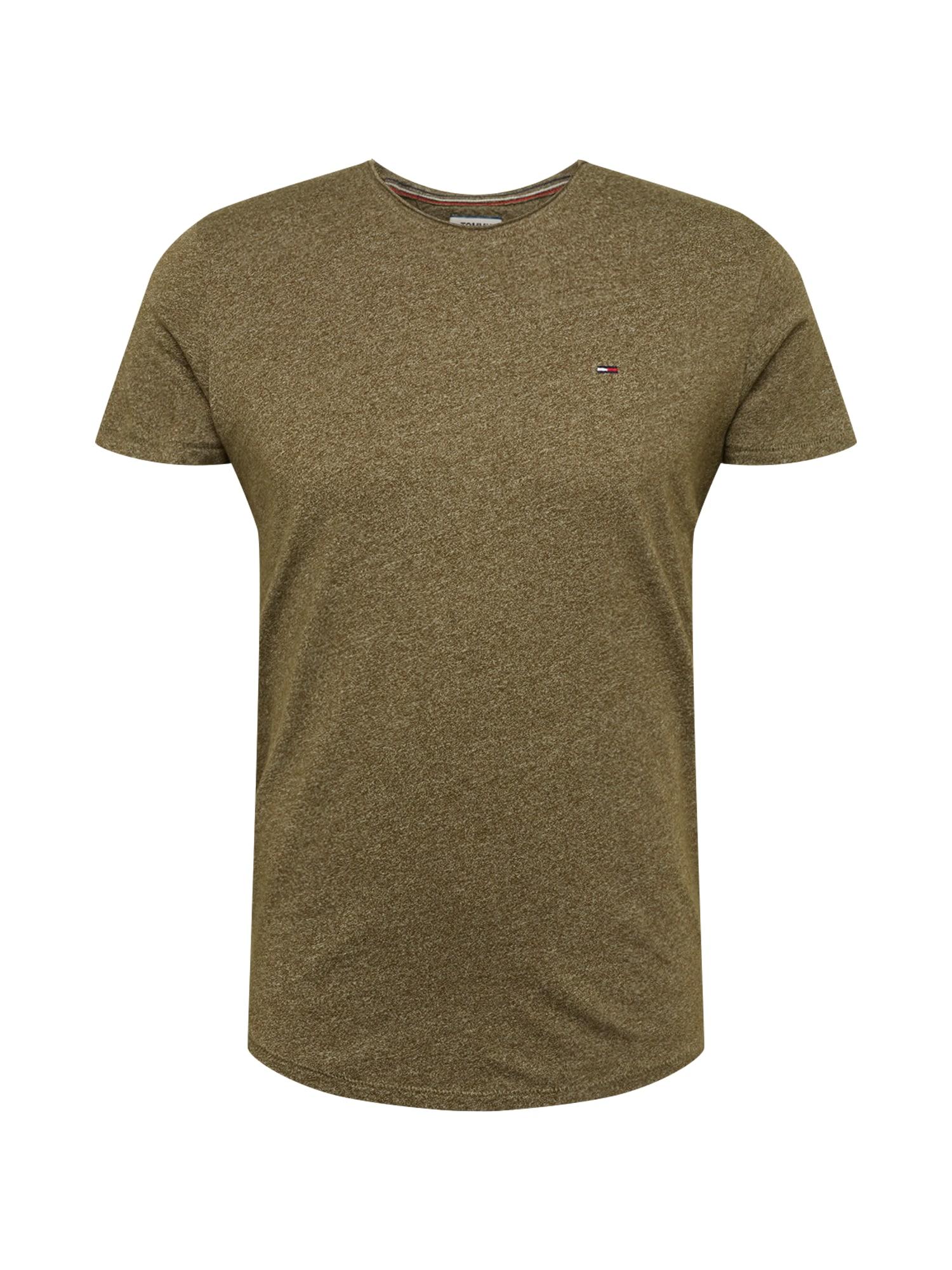 Tričko olivová Tommy Jeans