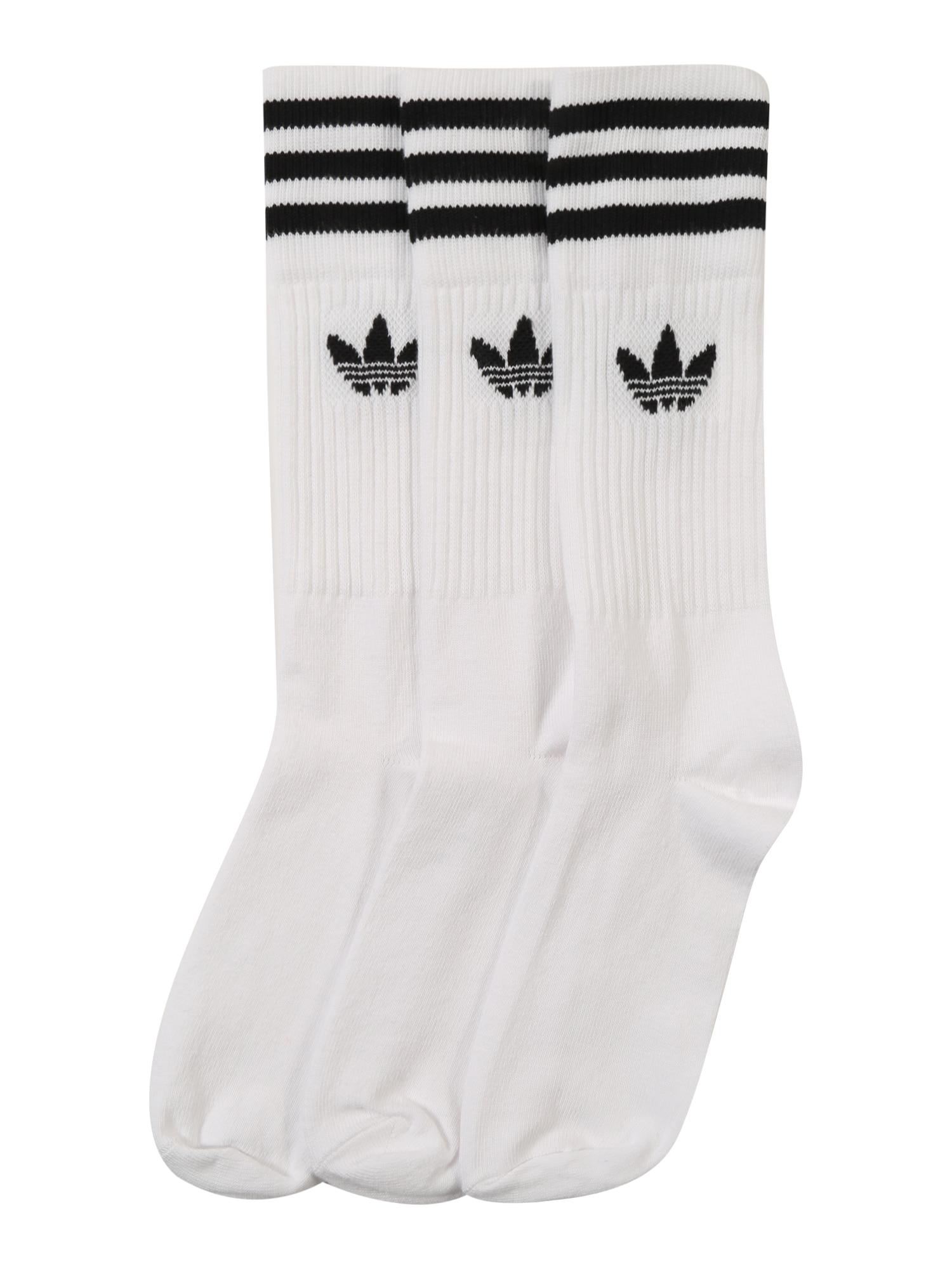 Ponožky SOLID CREW černá bílá ADIDAS ORIGINALS