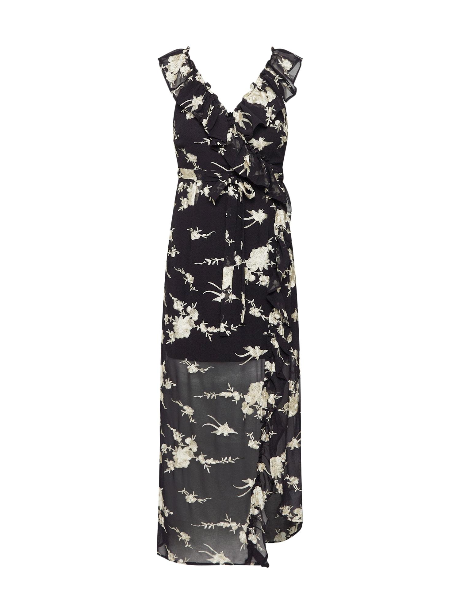 Letní šaty EMBROIDERY DRESS černá Bardot