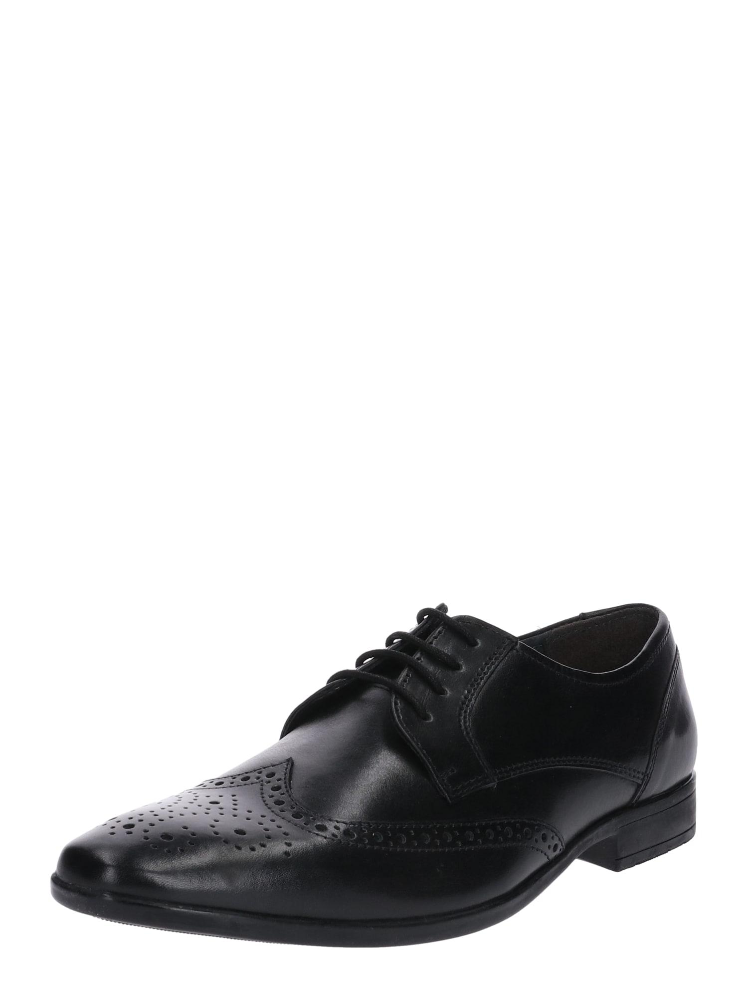 Šněrovací boty černá Pier One