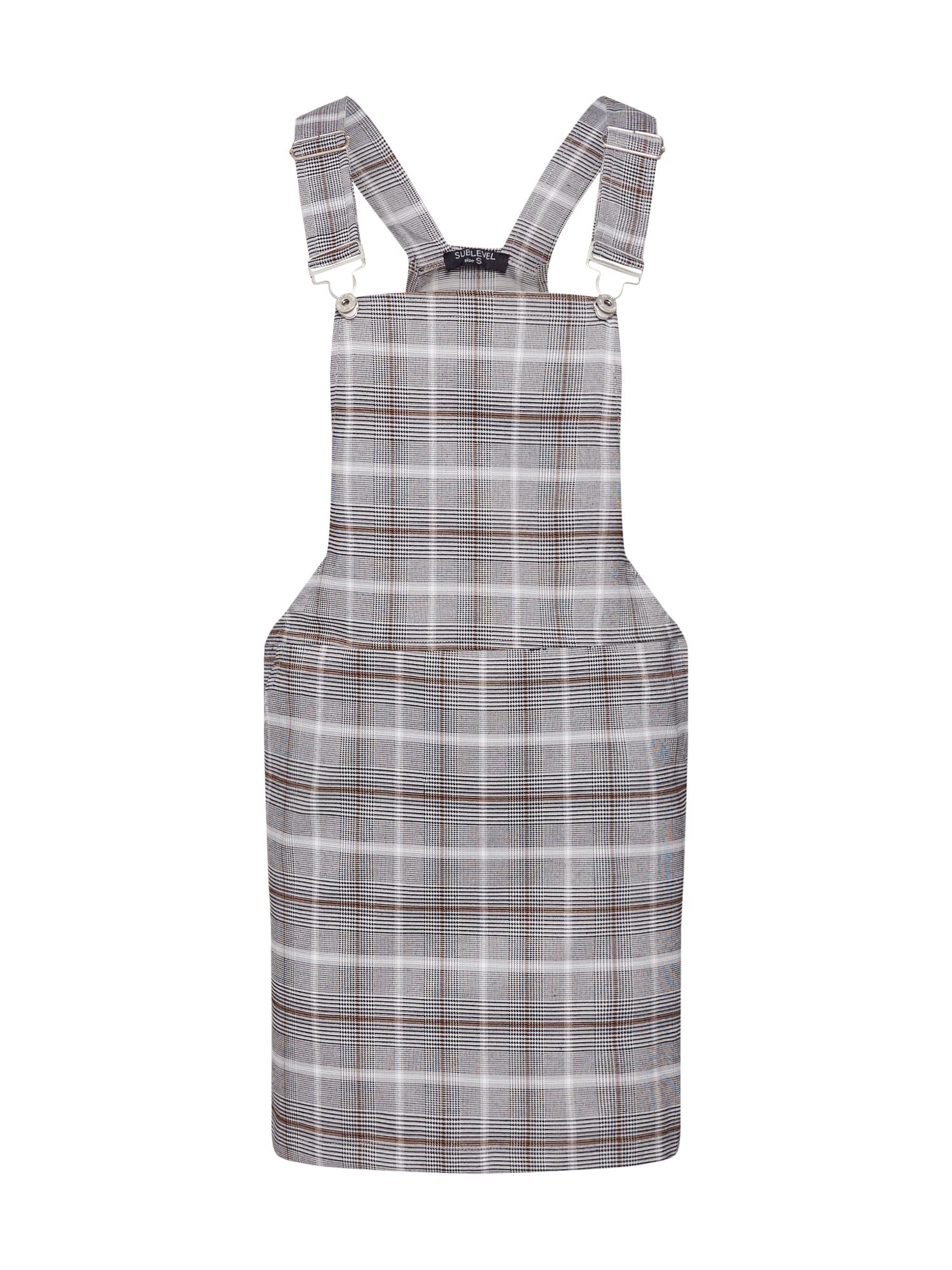 Laclová sukně hnědá šedá bílá Sublevel