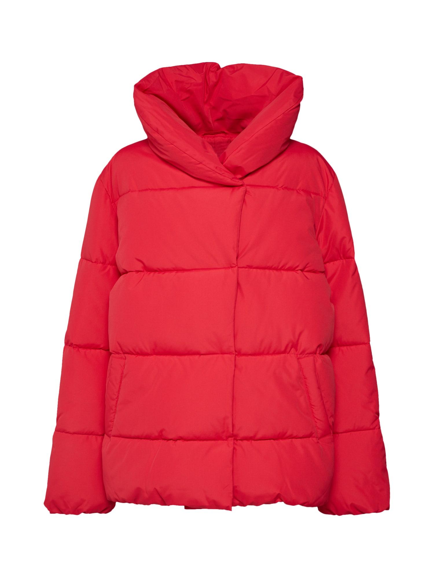 Zimní bunda svítivě červená VILA