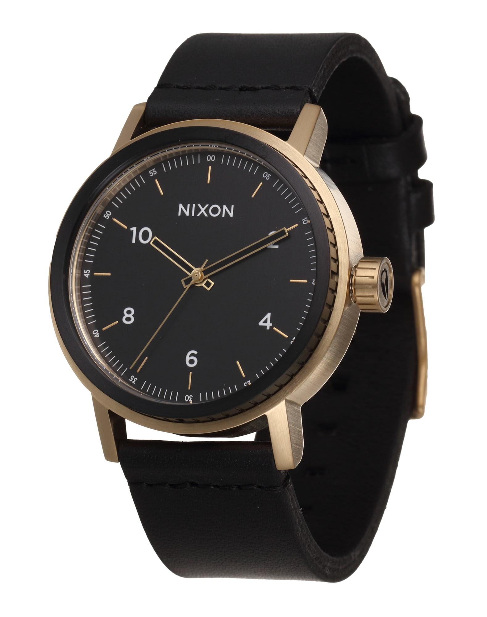 Analogové hodinky Stark Leather zlatá černá Nixon