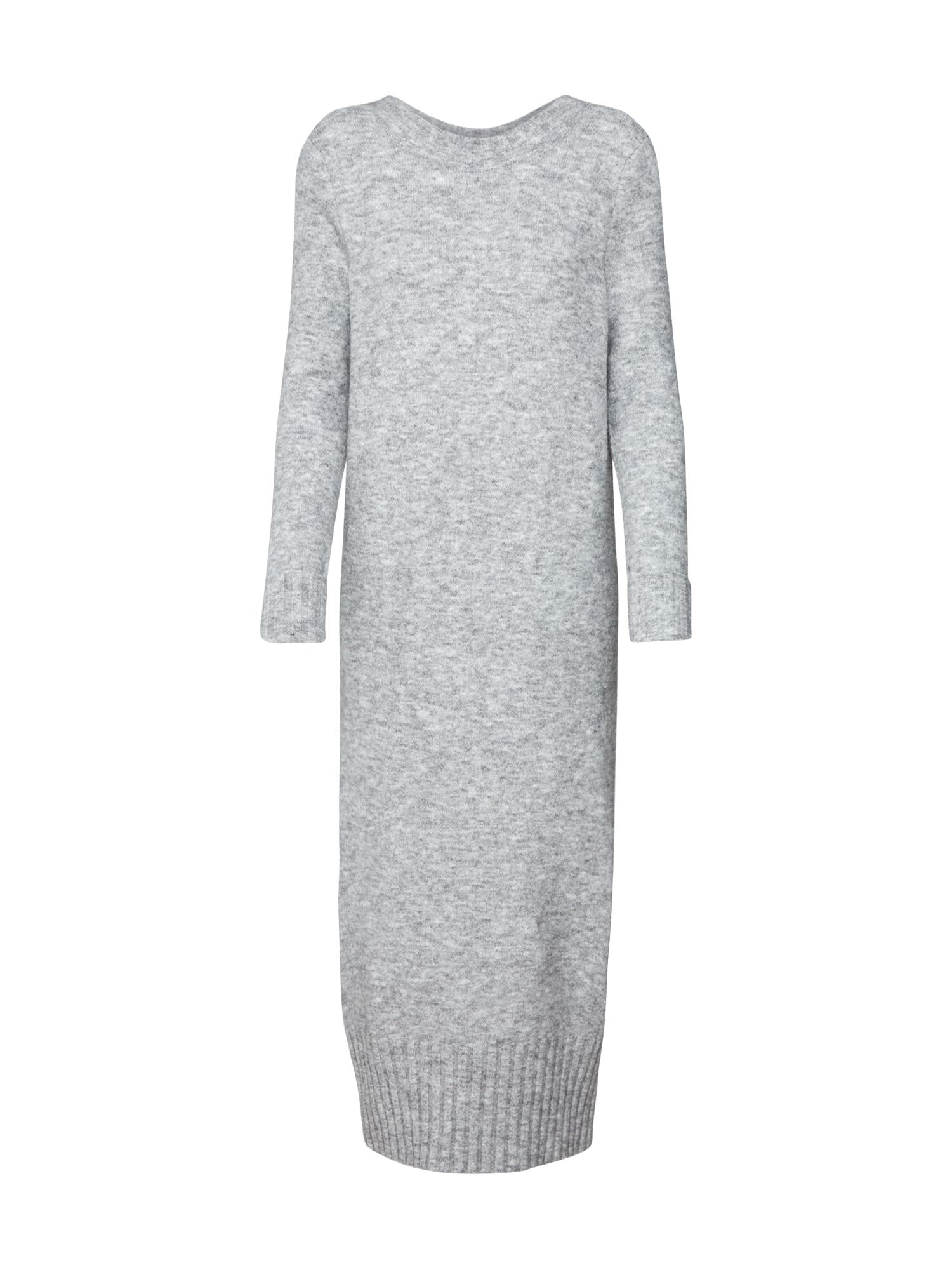 Úpletové šaty Deena šedý melír EDITED