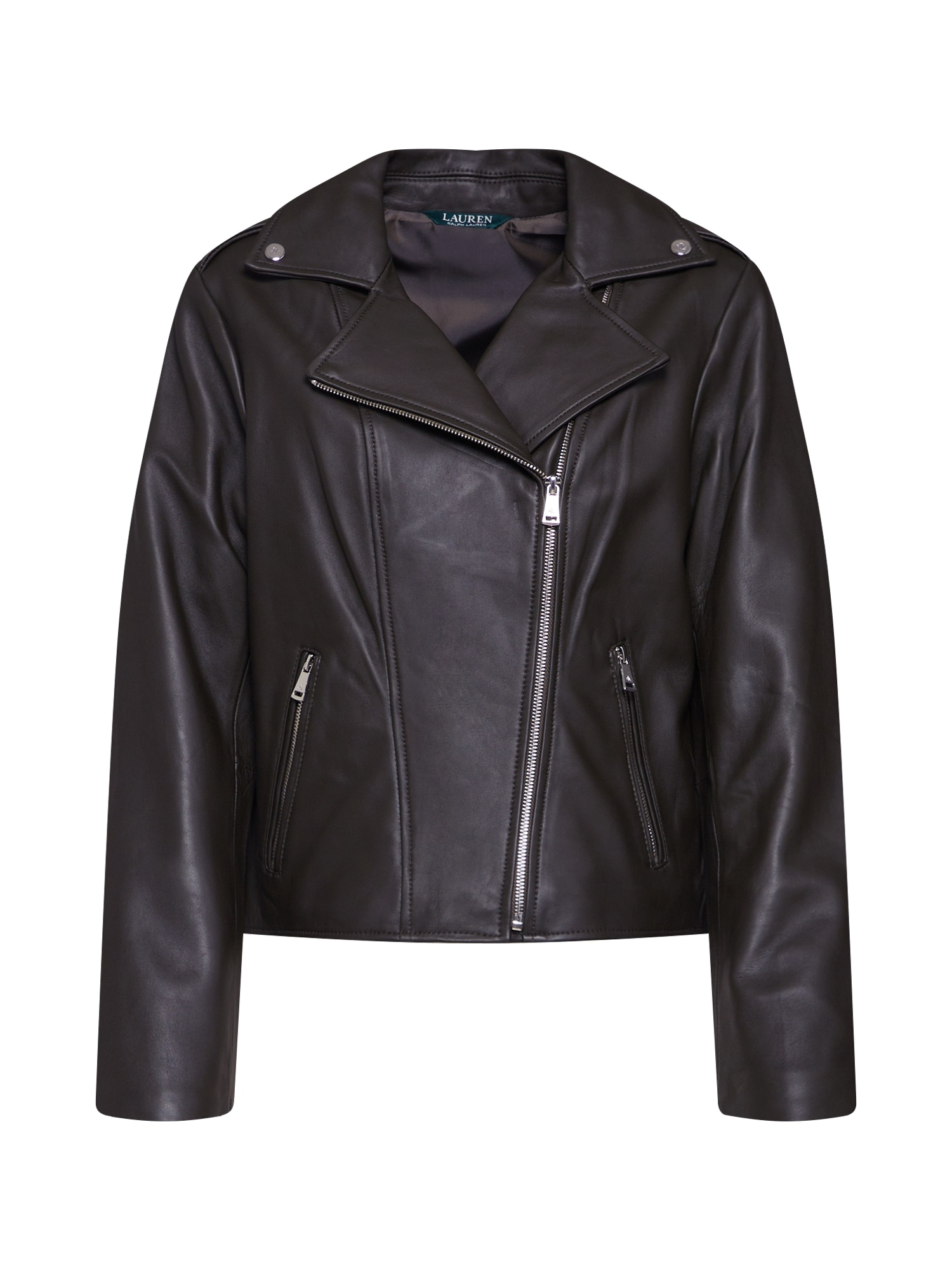 Přechodná bunda CLASSIC MOTO-JACKET černá Lauren Ralph Lauren