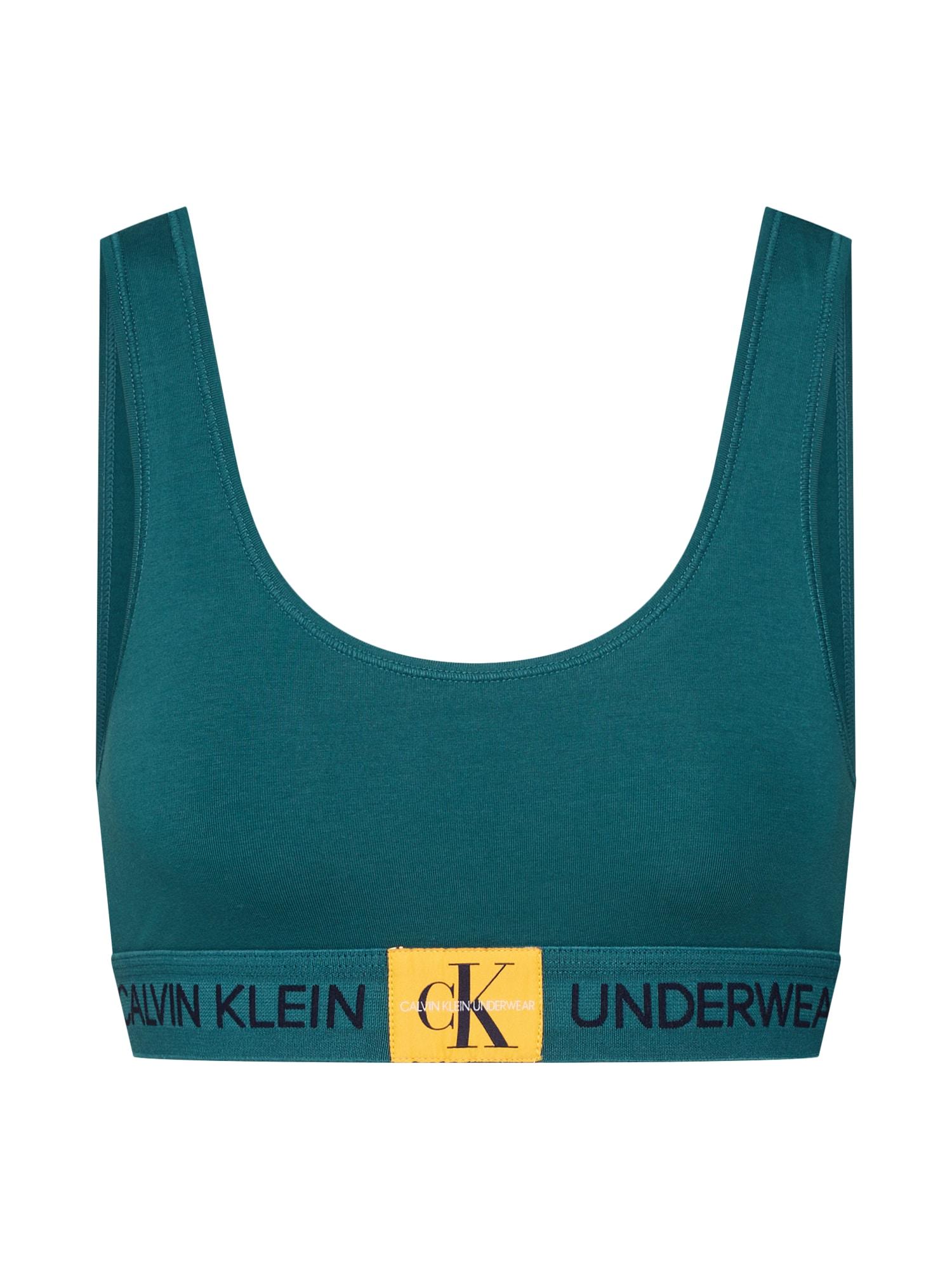 Podprsenka 000QF4918E petrolejová Calvin Klein Underwear