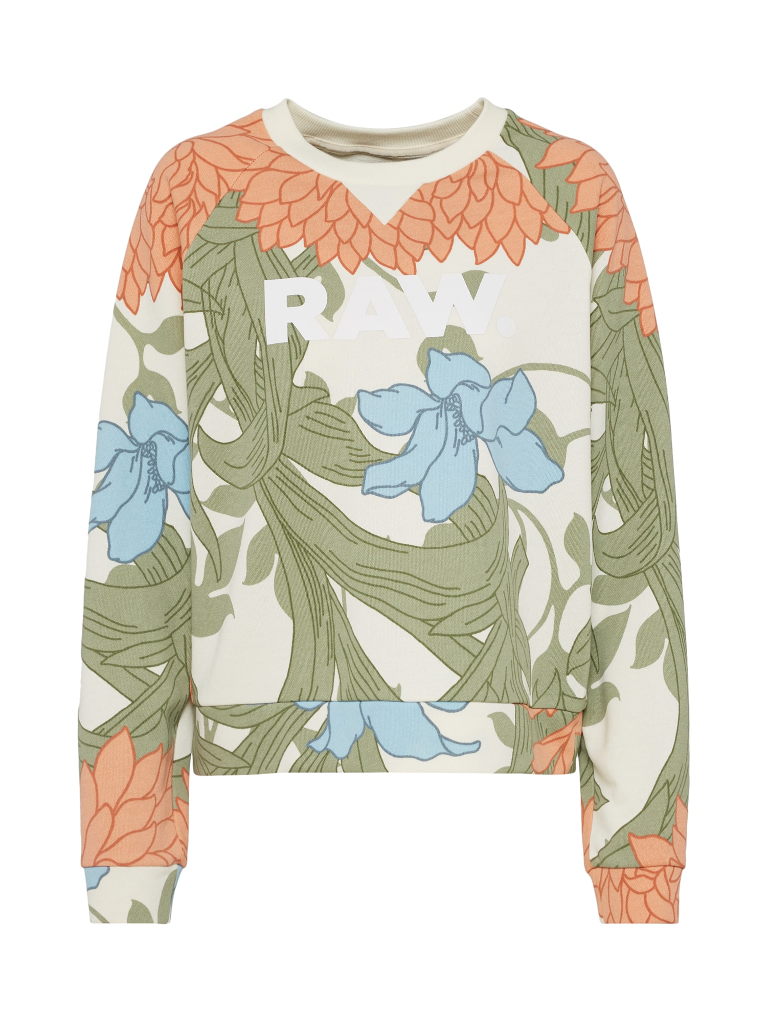 G-STAR RAW Dames Sweatshirt A-craft cropped r sw wmn l s groen pasteloranj
