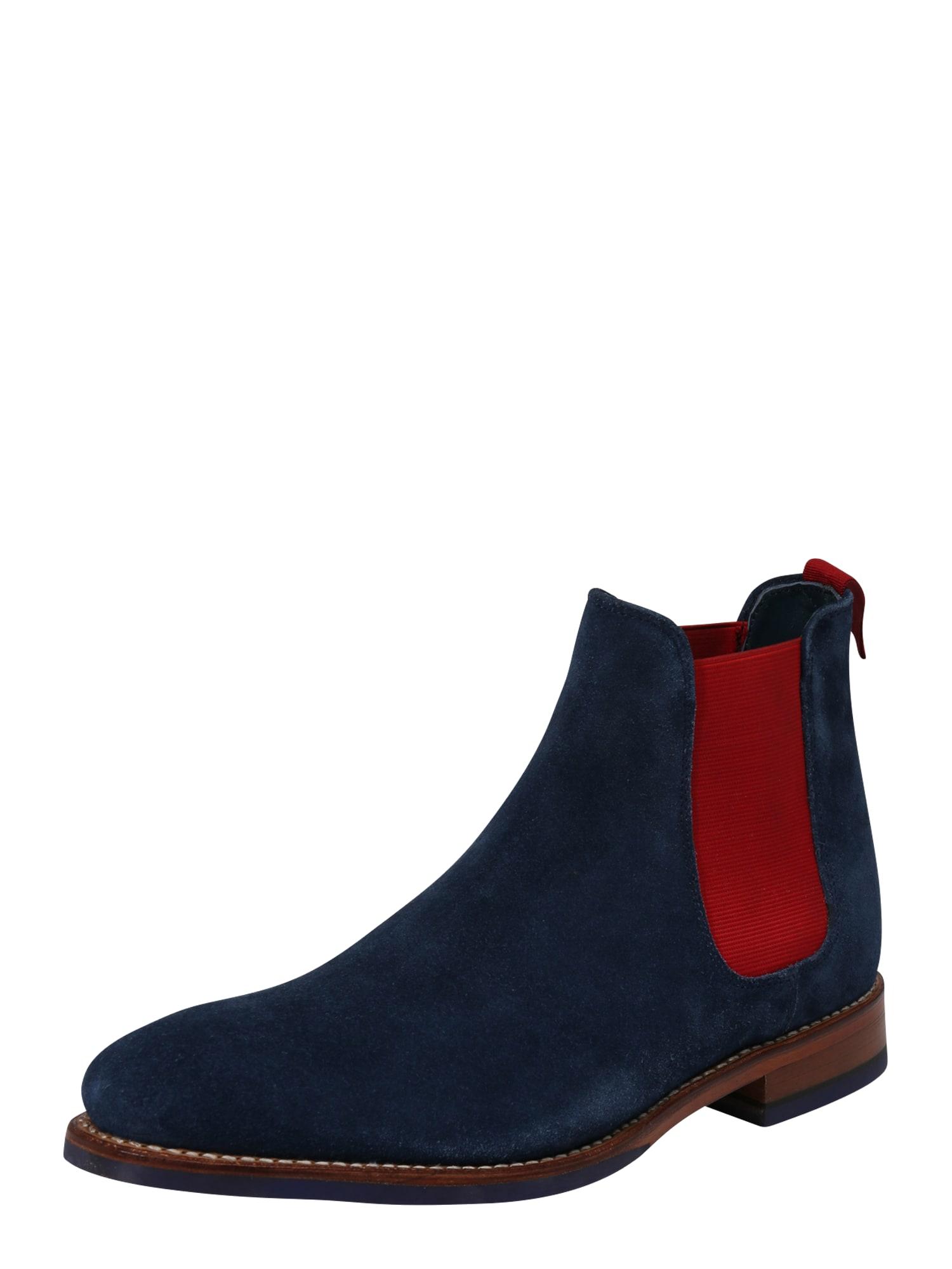 Chelsea boty BOJAN námořnická modř červená Gordon & Bros