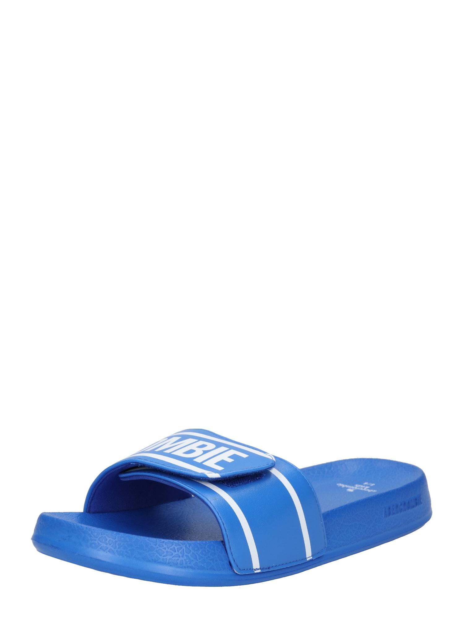 Plážovákoupací obuv modrá Abercrombie & Fitch