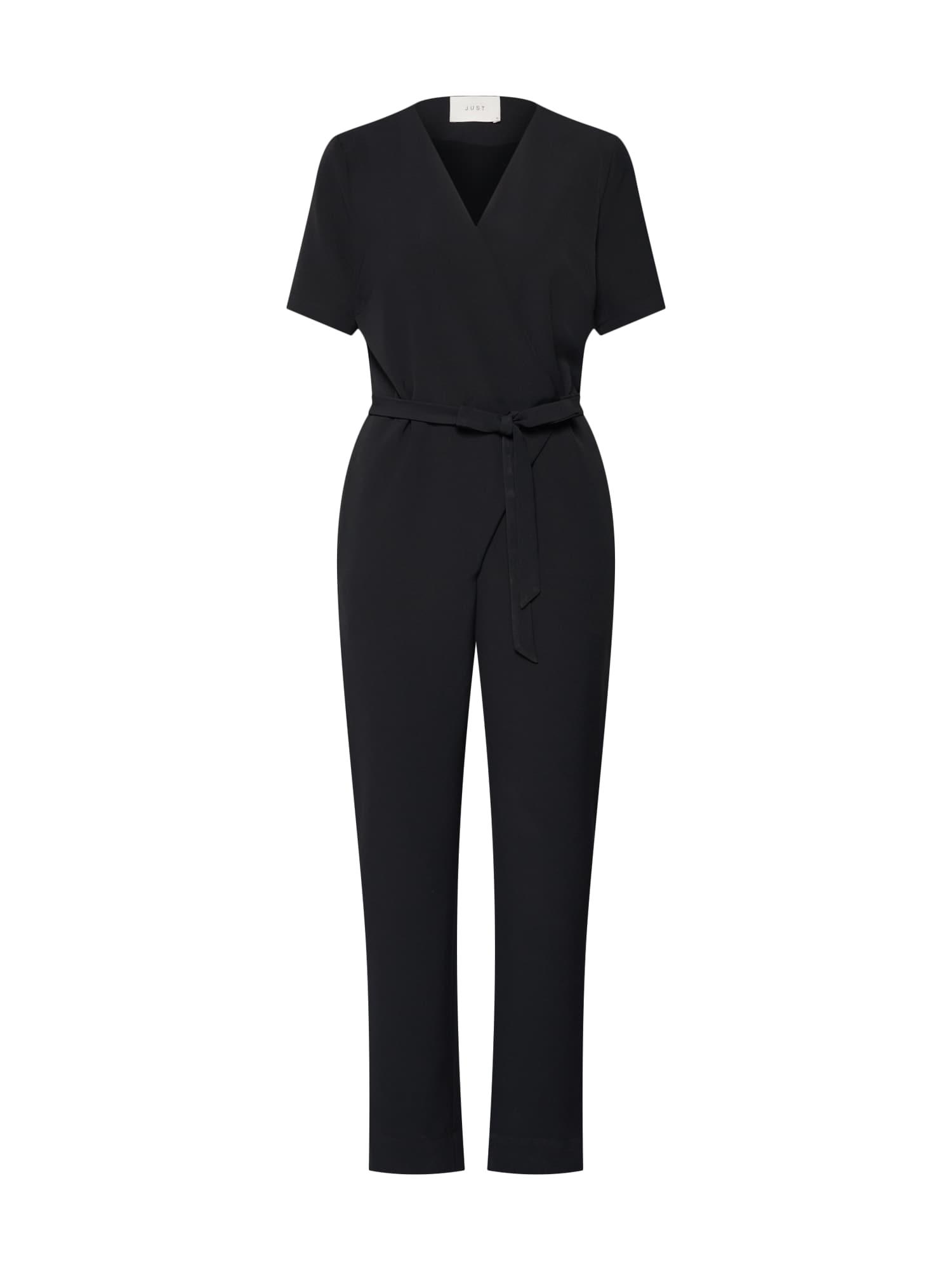 Overal Gilda ss jumpsuit černá JUST FEMALE