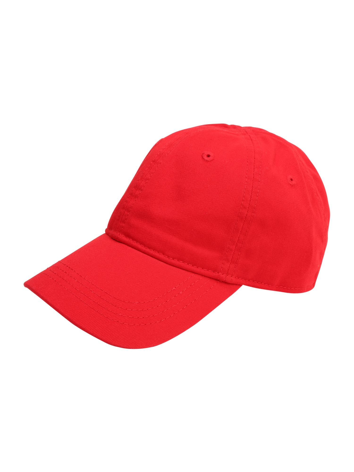 Kšiltovka červená LACOSTE