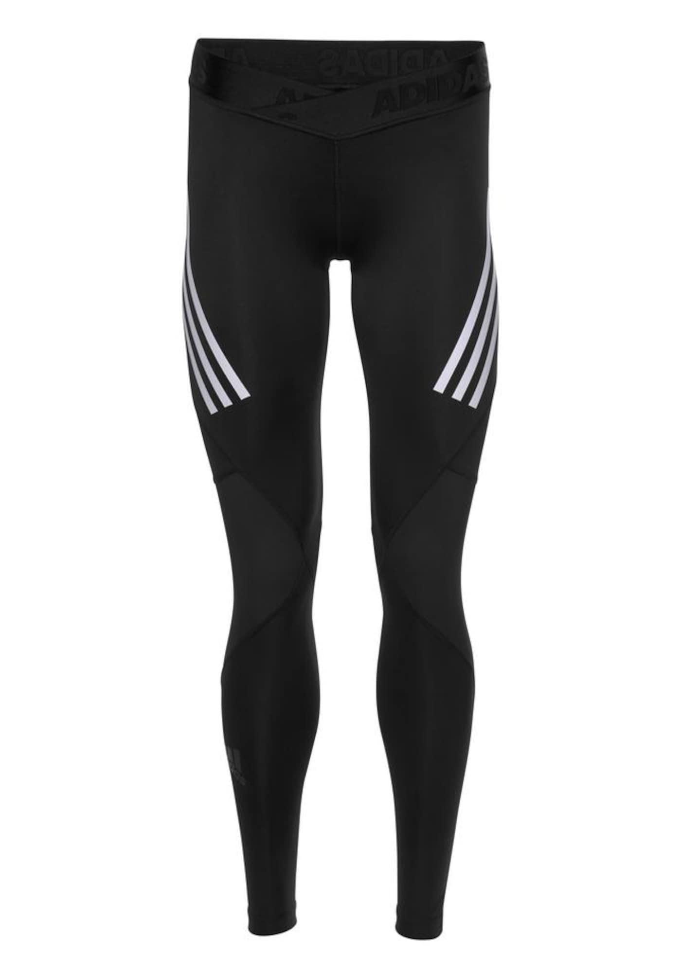 Sportovní kalhoty Alphaskin černá bílá ADIDAS PERFORMANCE