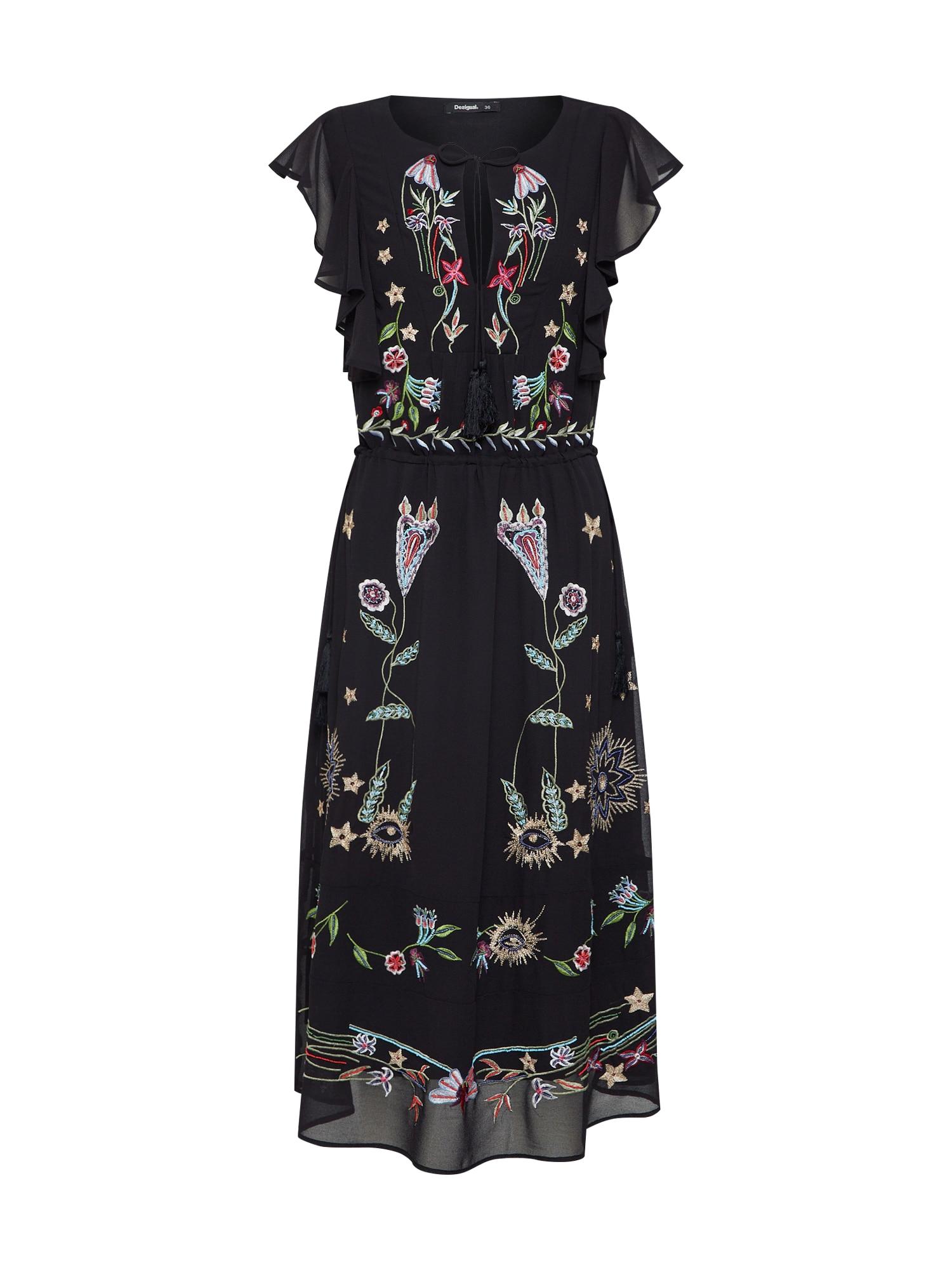 Šaty VEST_SANDY mix barev černá Desigual