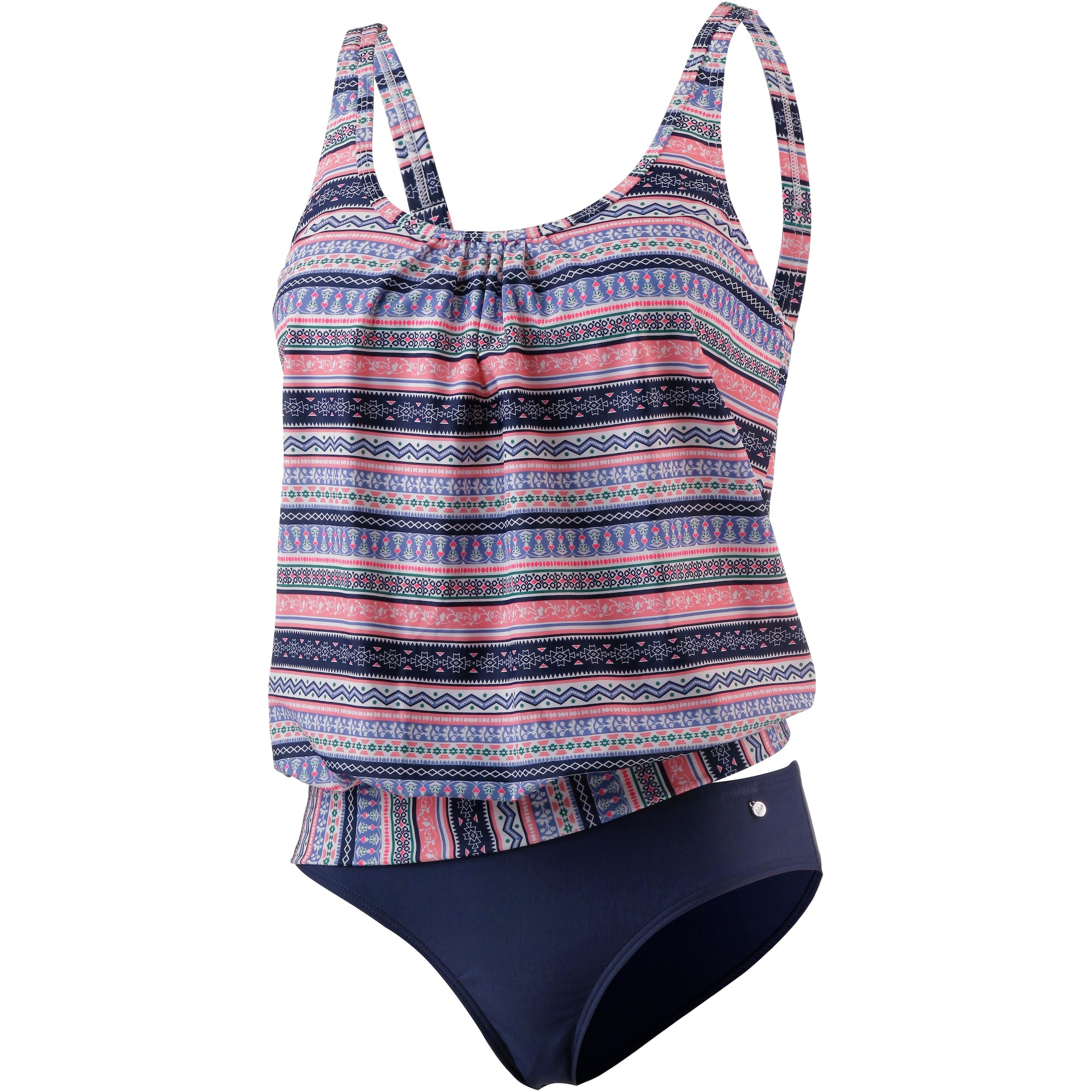 S.Oliver RED LABEL Beachwear, Dames Tankinitop, blauw / pink