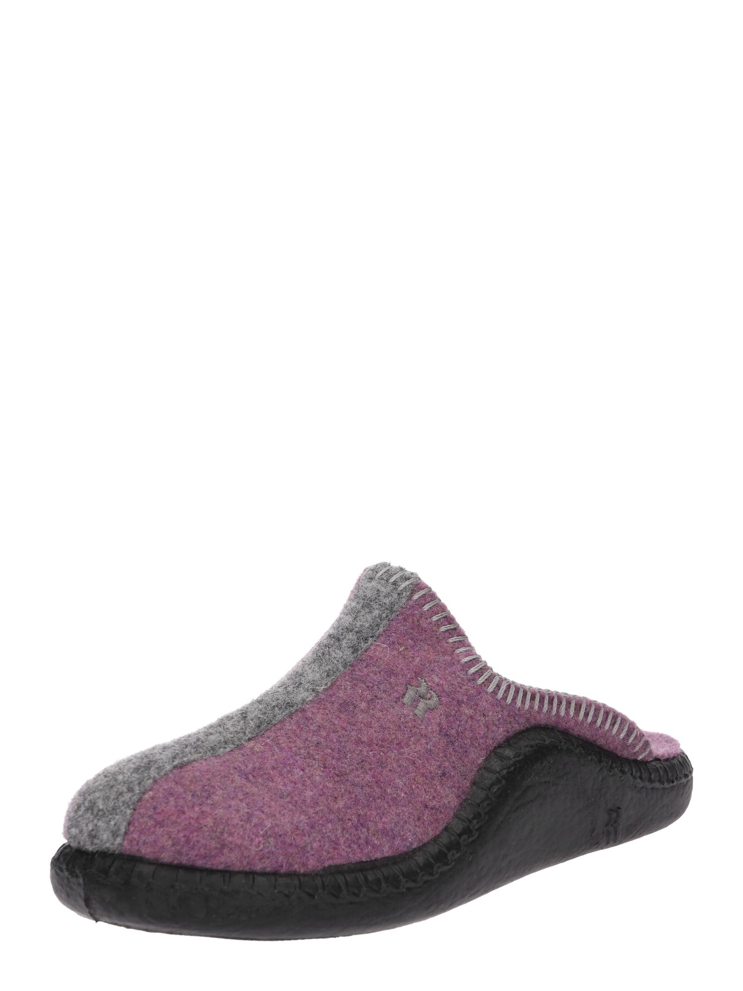 Pantofle Mokasso šedý melír cyclam ROMIKA
