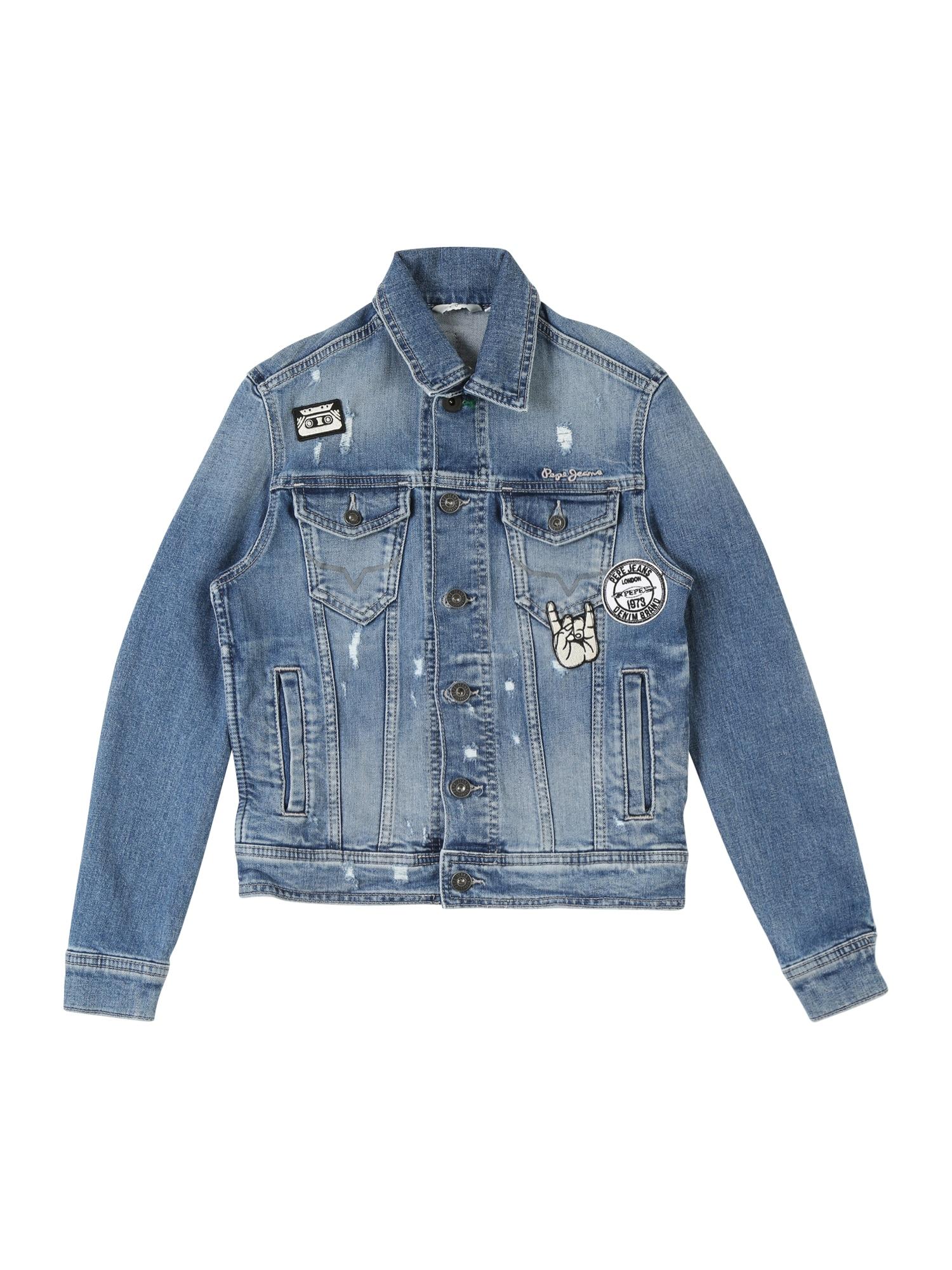 Přechodná bunda LEGENDARY BOLT modrá džínovina Pepe Jeans