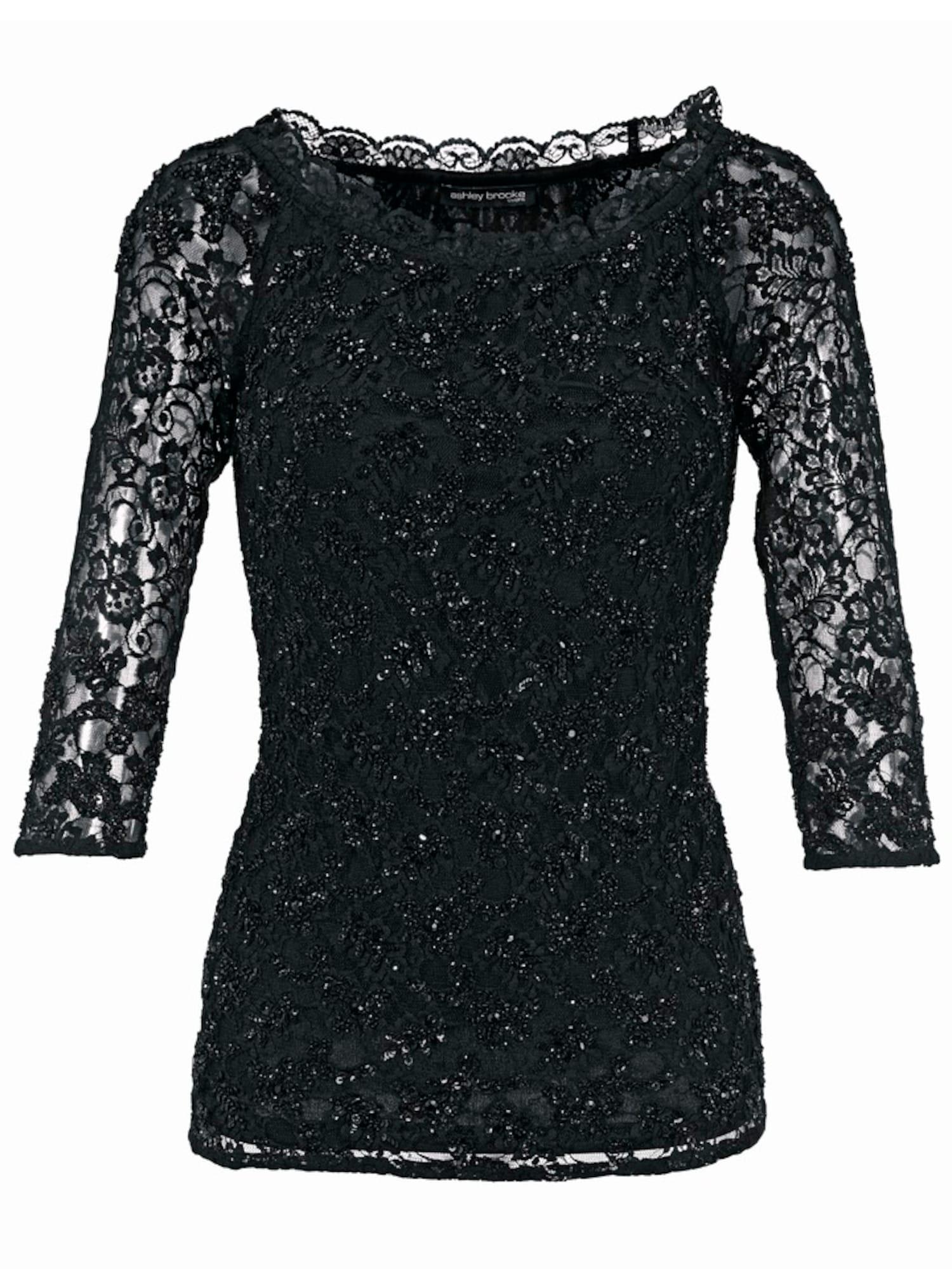 Carmenshirt | Bekleidung > Shirts > Carmenshirts & Wasserfallshirts | Schwarz - Silber | heine