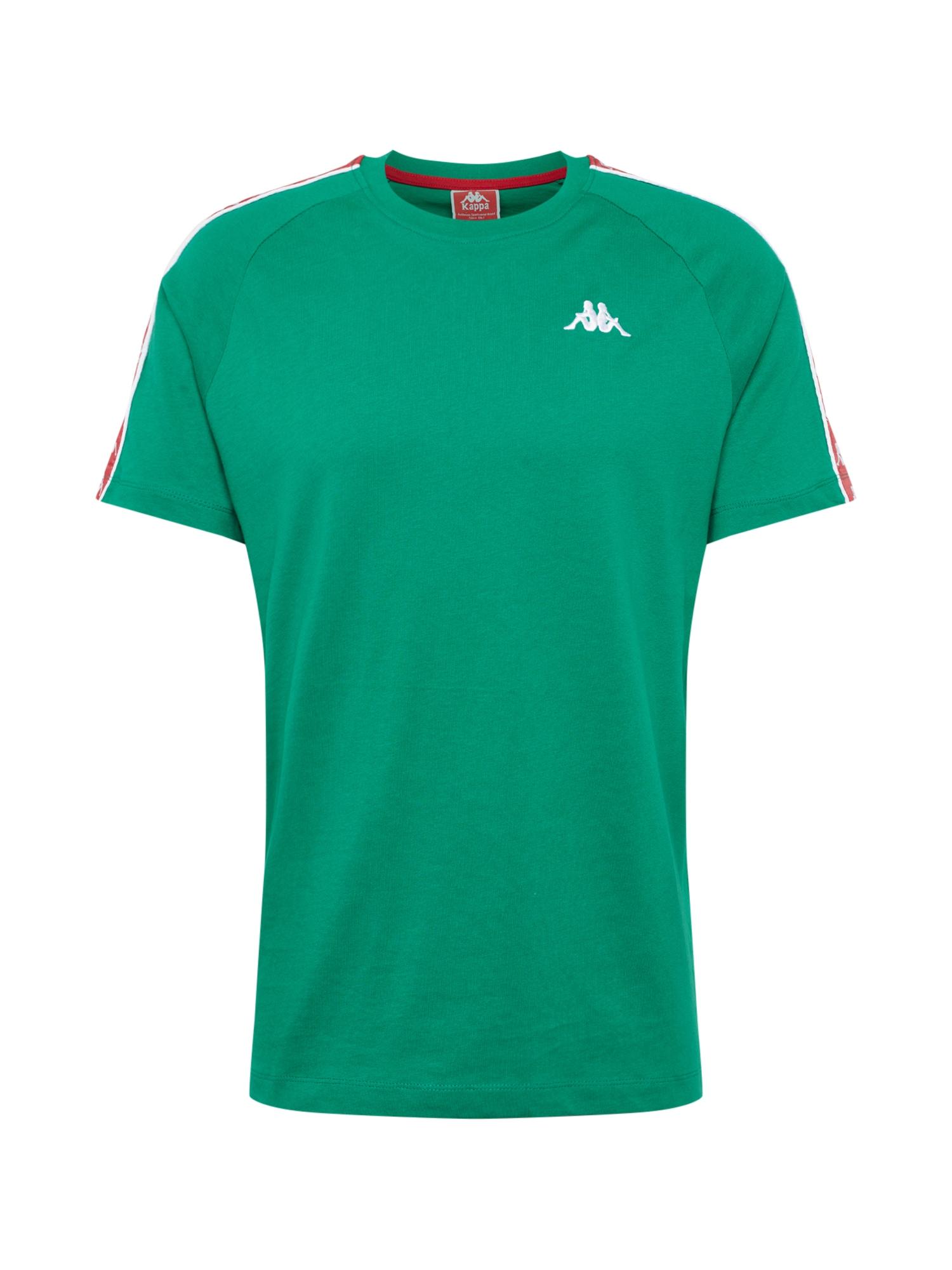 Tričko ERNESTO zelená červená bílá KAPPA