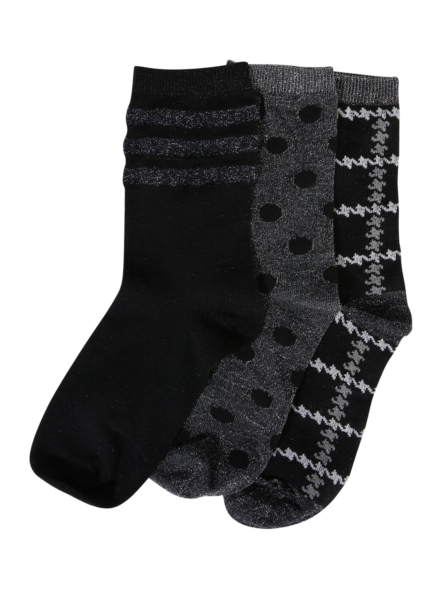 Ponožky šedá černá stříbrná ONLY