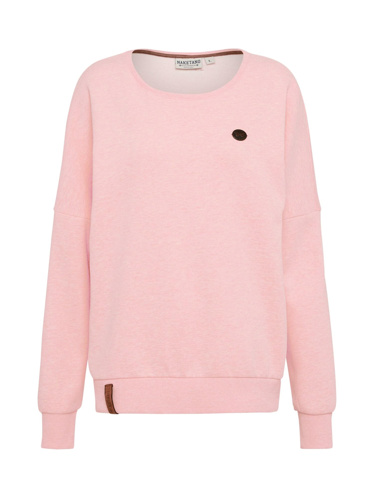 Naketano, Dames Sweatshirt '2 Stunden Sikis Sport', roze gemleerd