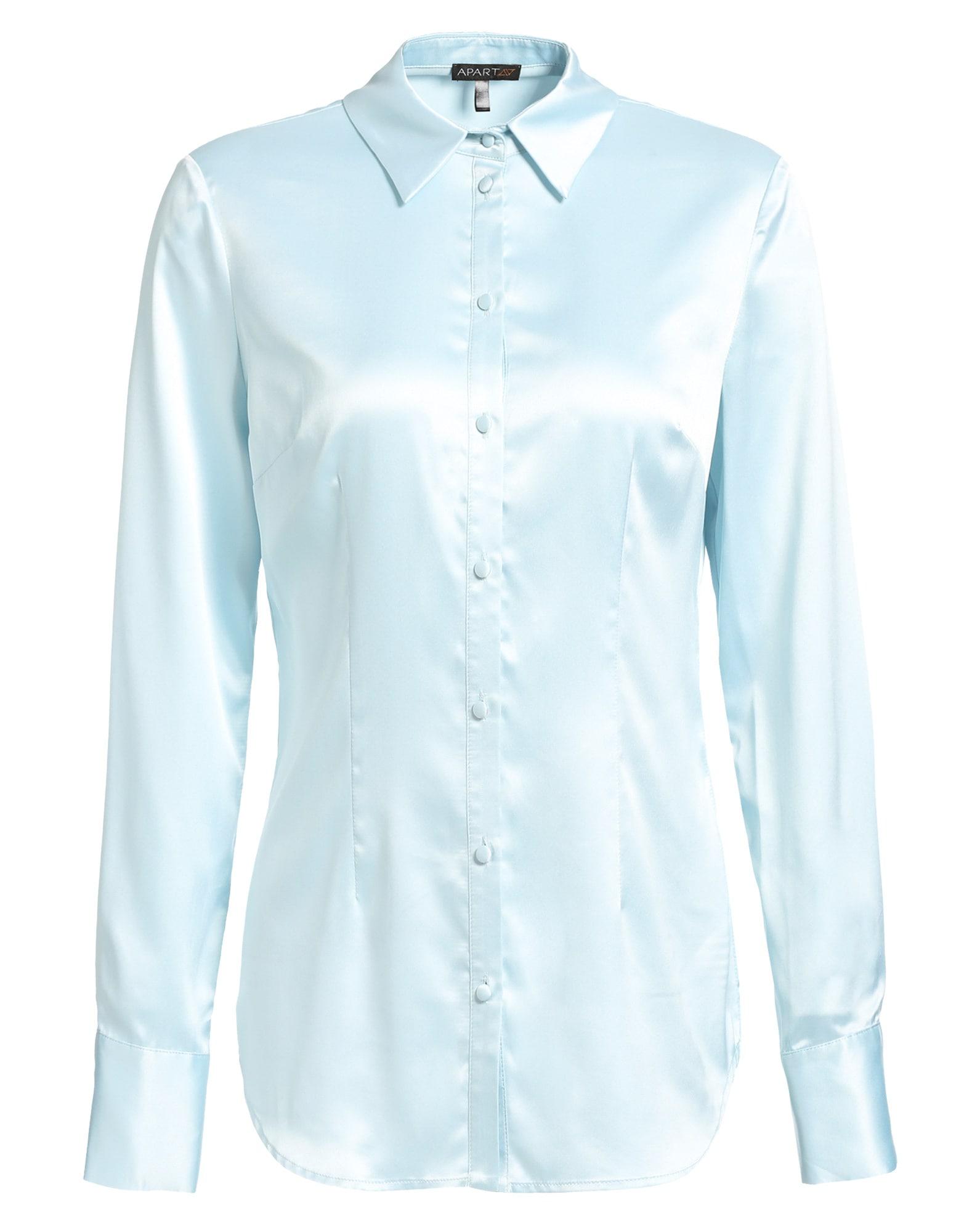 Satinbluse aus glänzendem Satin | Bekleidung > Blusen > Satinblusen | Apart