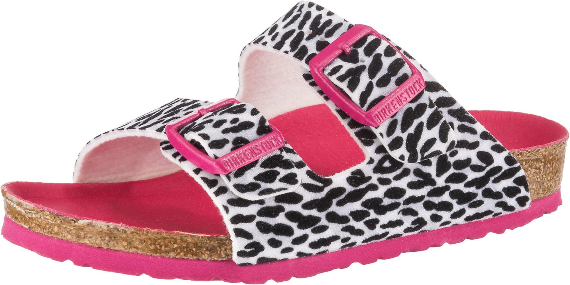 BIRKENSTOCK Sandále  čierna / ružová