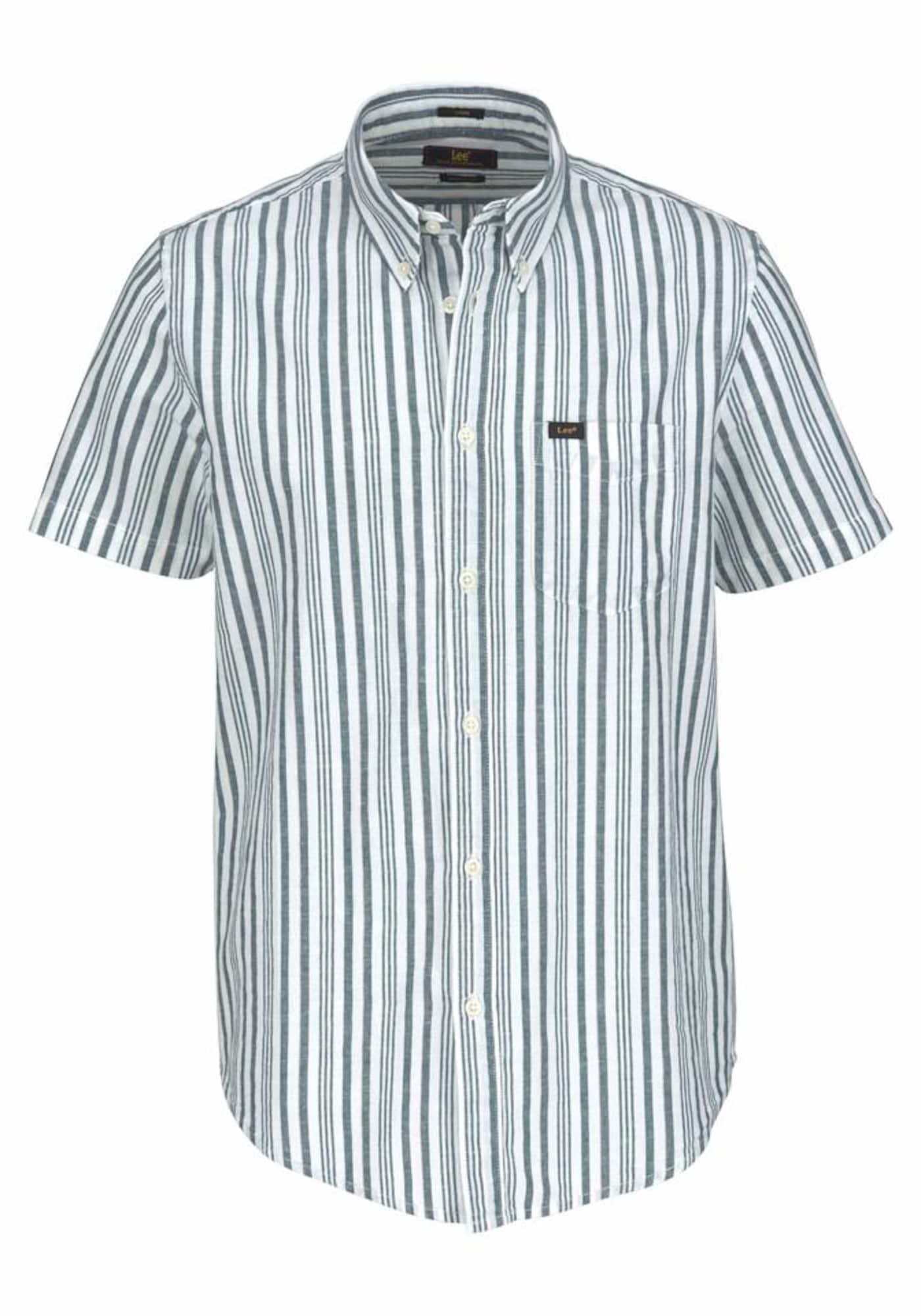 Lee Heren Overhemd blue denim wit