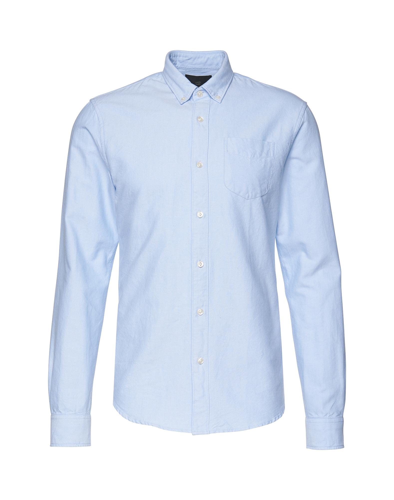 SCOTCH  and  SODA Heren Zakelijk overhemd Classic Oxford Shirt lichtblauw