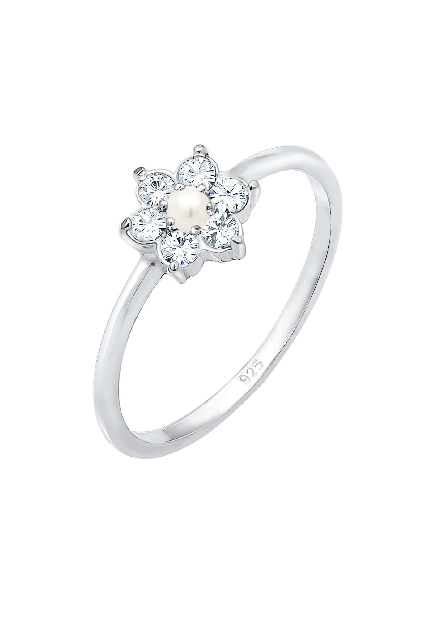 Verlobungsring 'Blume' | Schmuck > Ringe > Verlobungsringe | Silber | ELLI PREMIUM