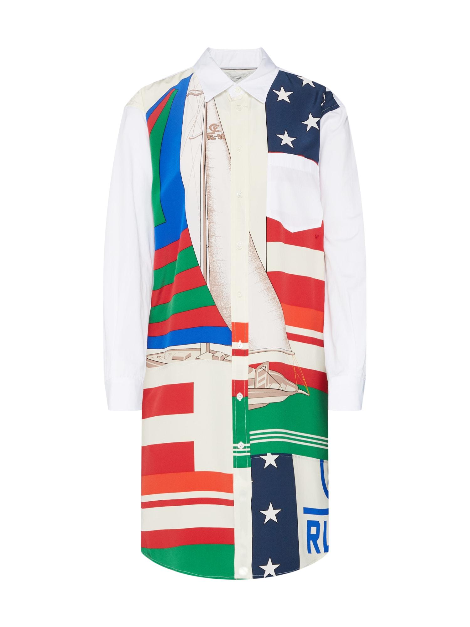 Košilové šaty mix barev bílá POLO RALPH LAUREN