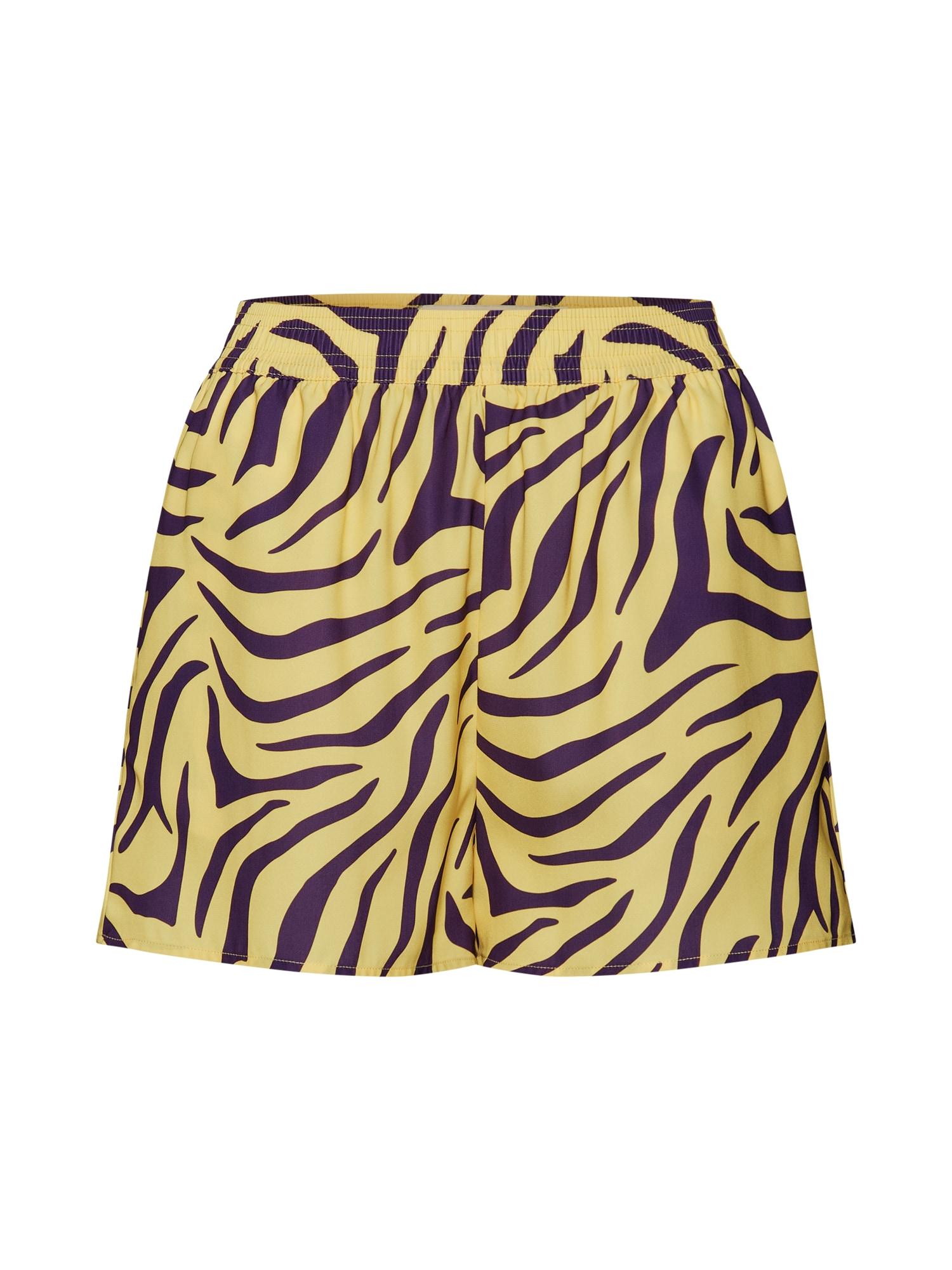 Kalhoty žlutá fialová IVYREVEL