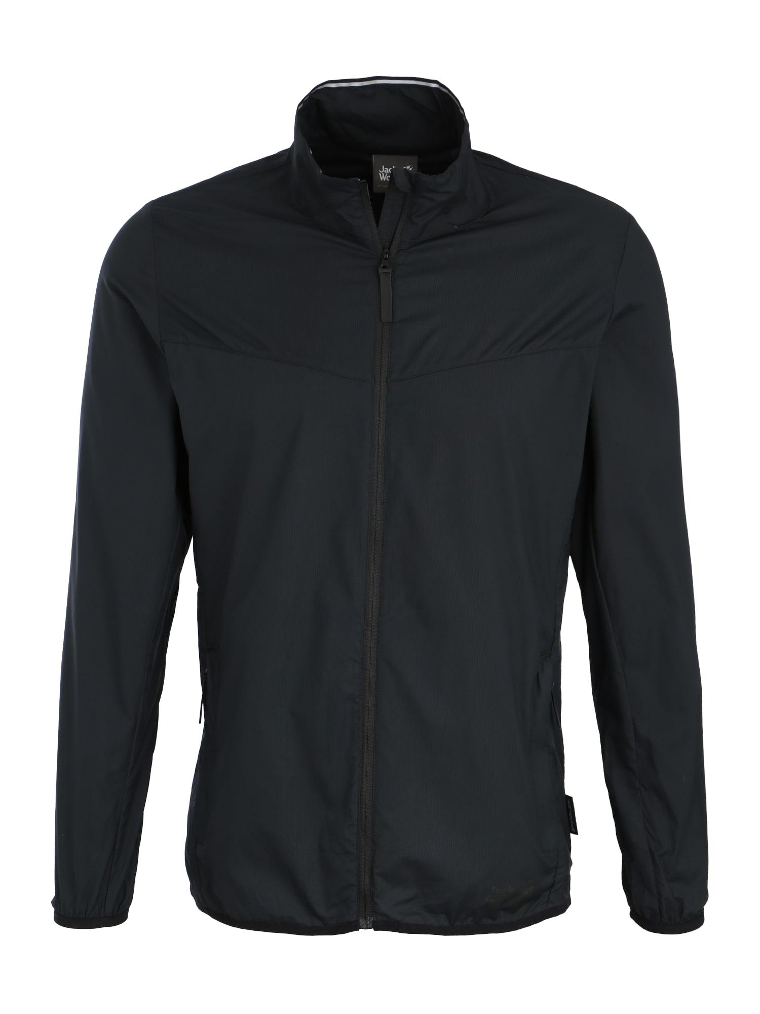 Sportovní bunda černá JACK WOLFSKIN