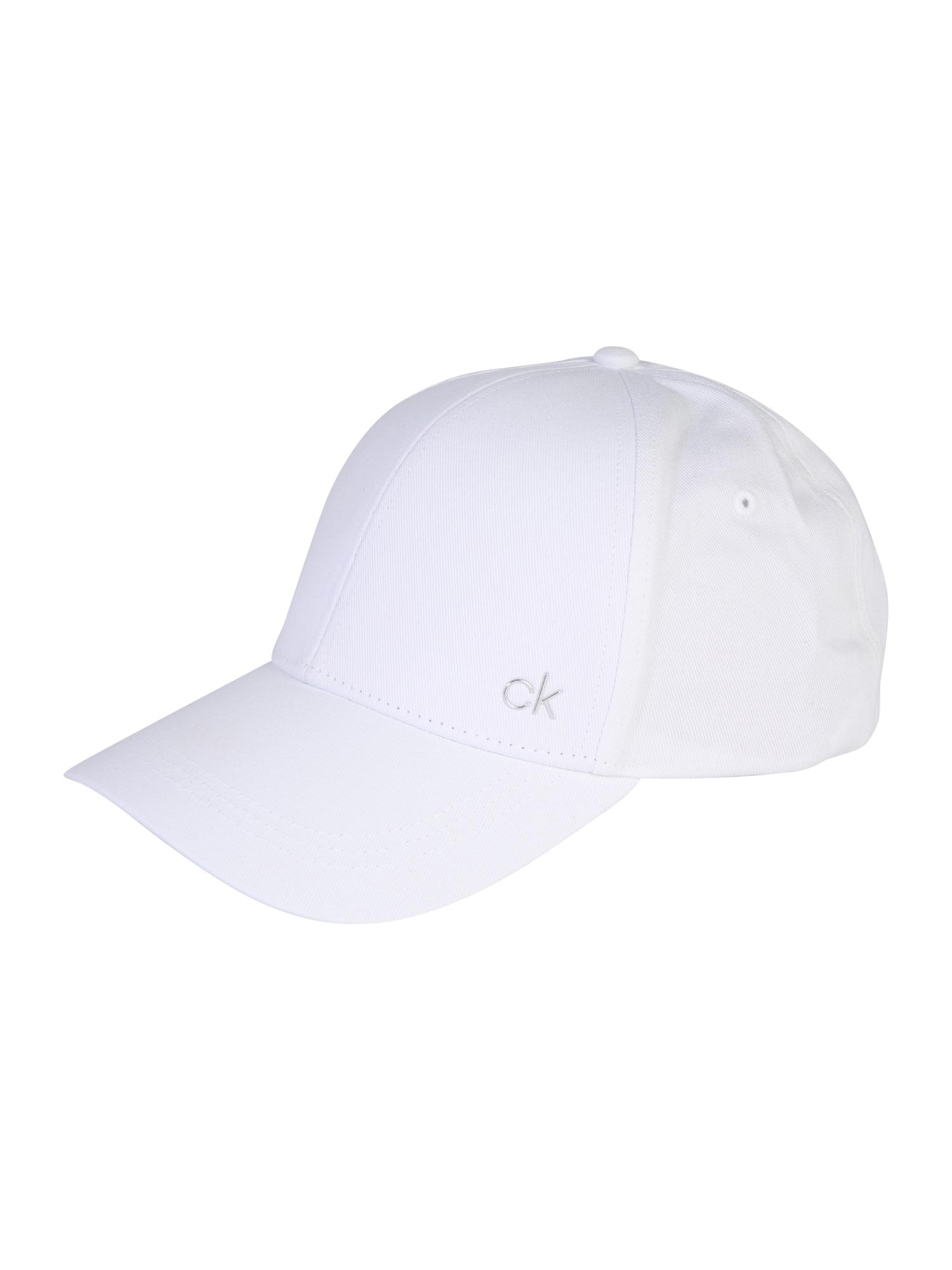 Kšiltovka CK METAL CAP bílá Calvin Klein
