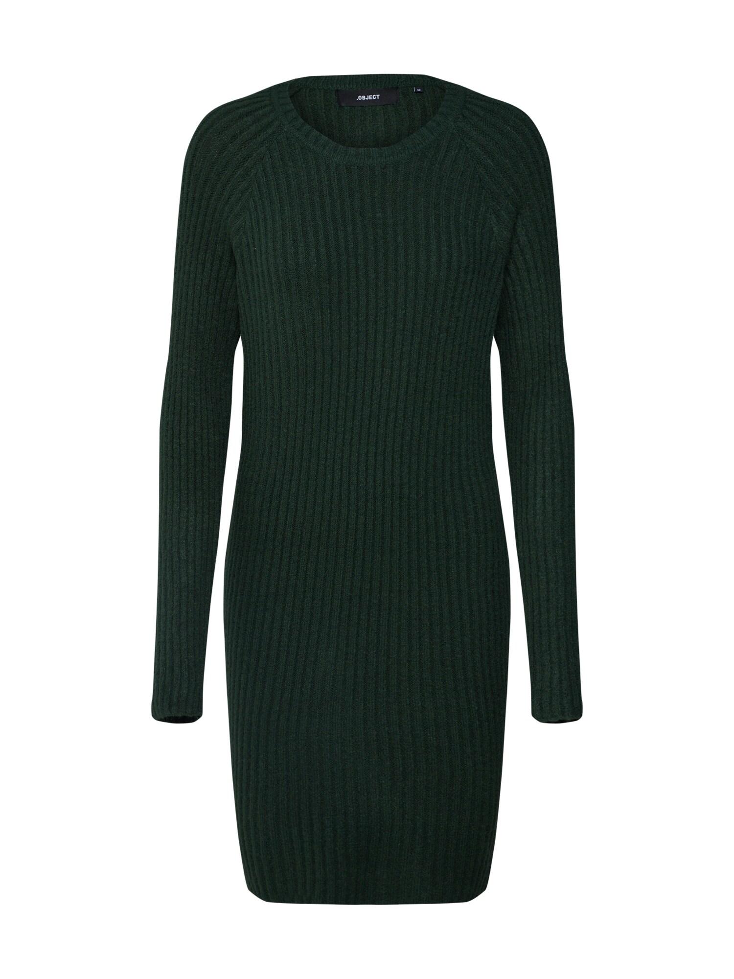Úpletové šaty OBJNONSIA olivová OBJECT
