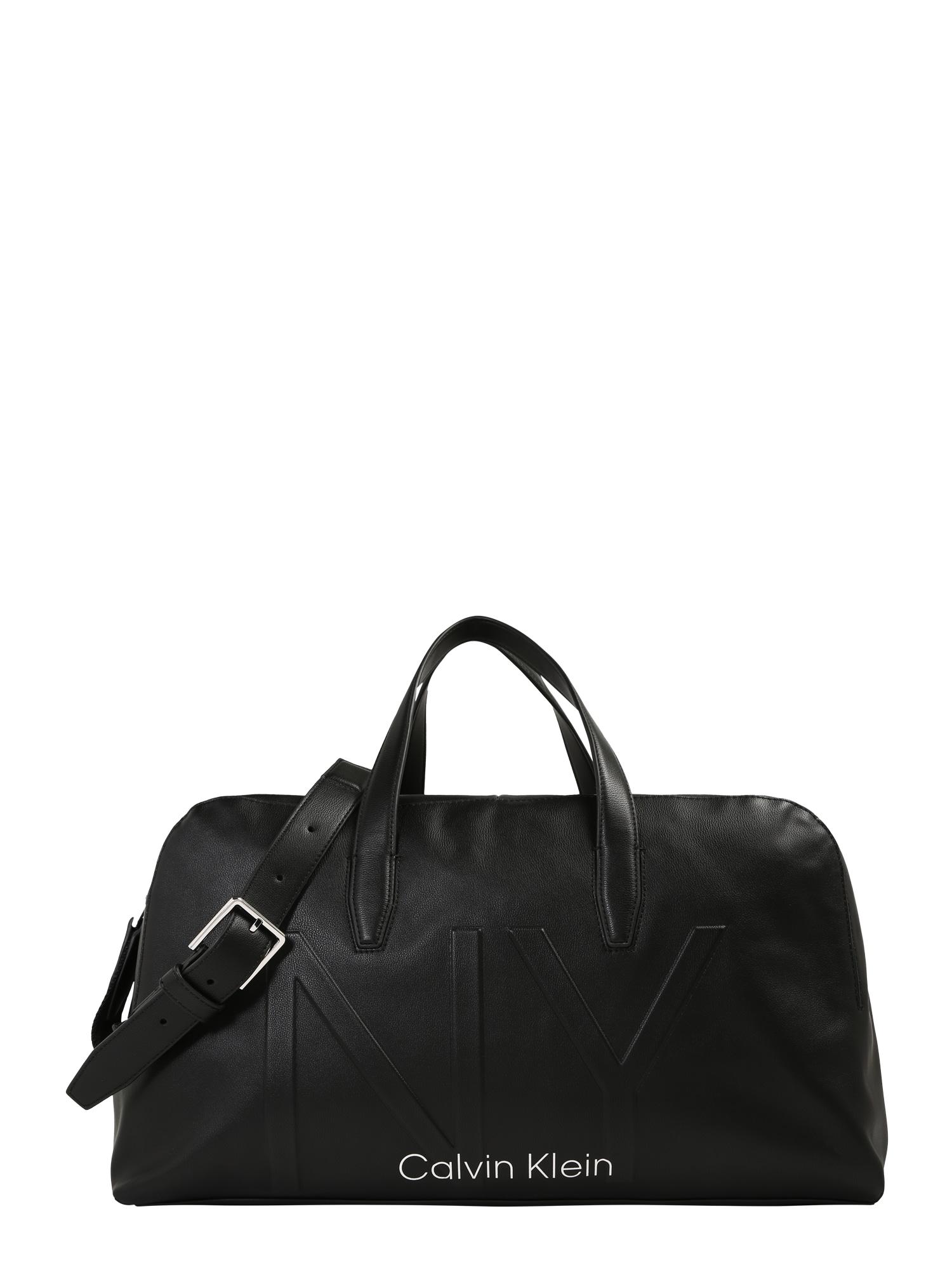 Calvin Klein Cestovní taška 'NY SHAPED LARGE DUFFLE'  černá