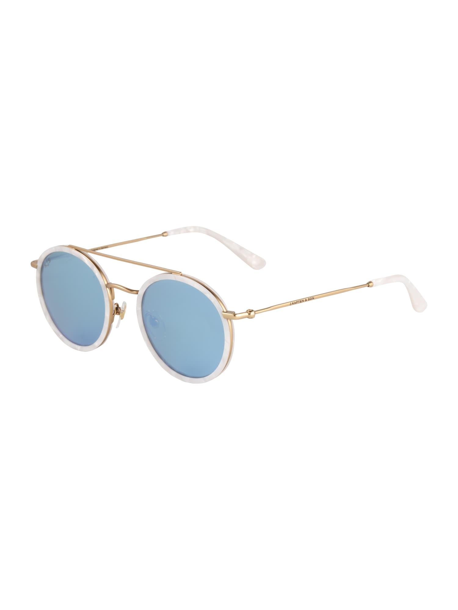 Sluneční brýle Bondi modrá zlatá Kapten & Son