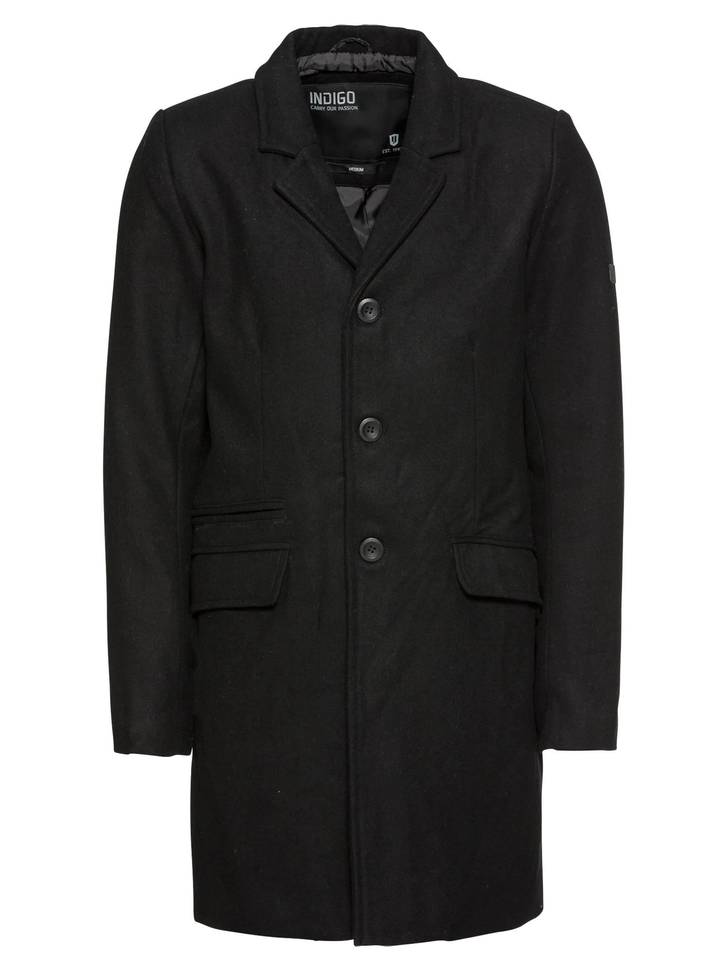 Přechodný kabát Mathieu Solid černá INDICODE JEANS