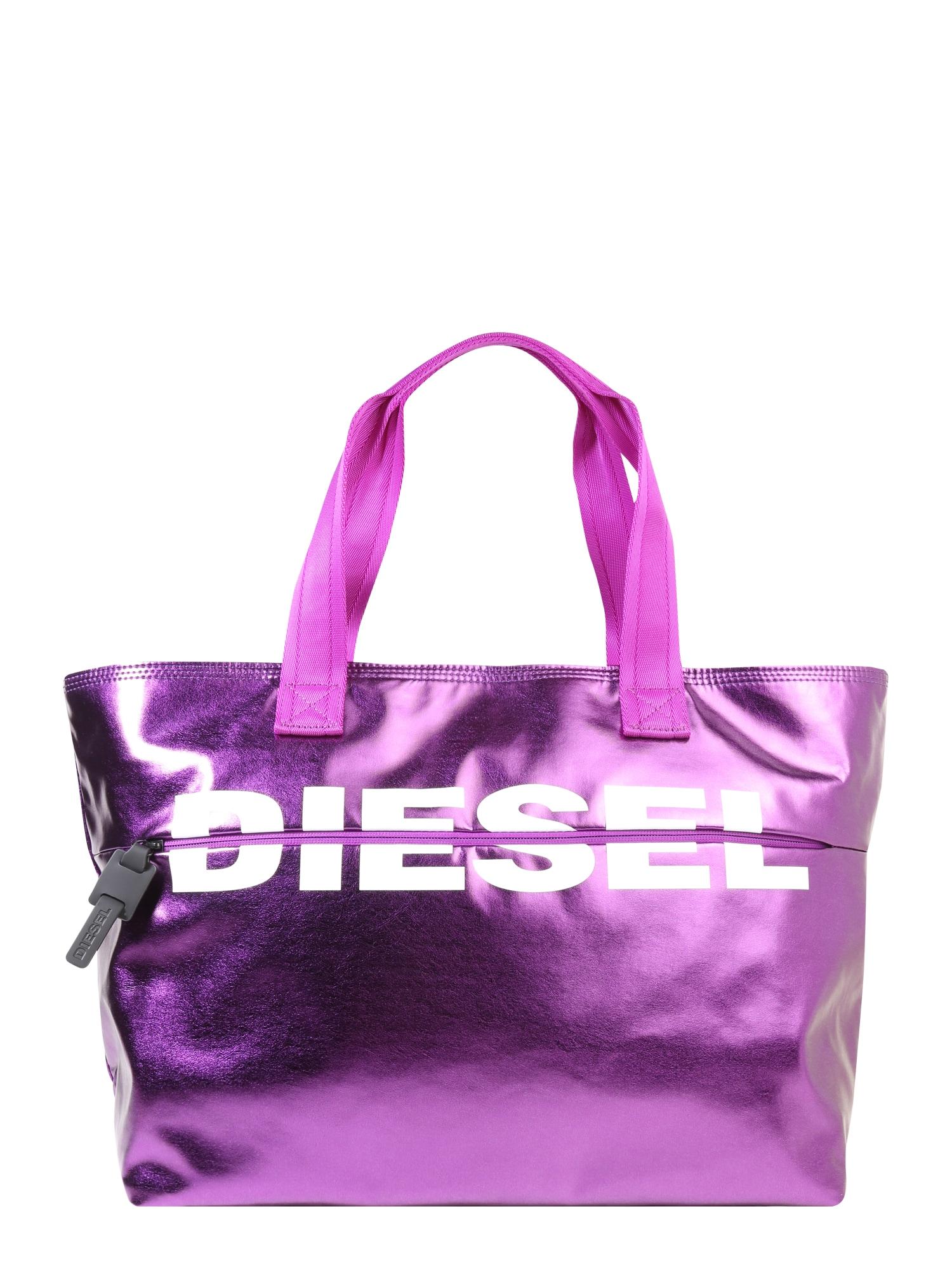 Nákupní taška svítivě fialová DIESEL