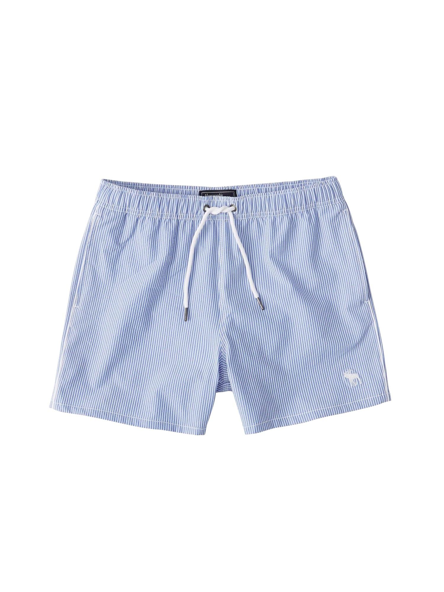 Plavecké šortky (S-EF148) SB19-5 INCH PATTERN SEERSUCKER 1CC $48 modrá Abercrombie & Fitch