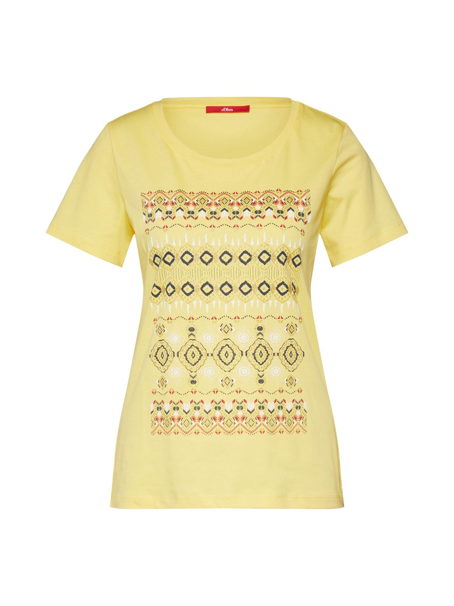 Tričko žlutá zelená mix barev S.Oliver RED LABEL