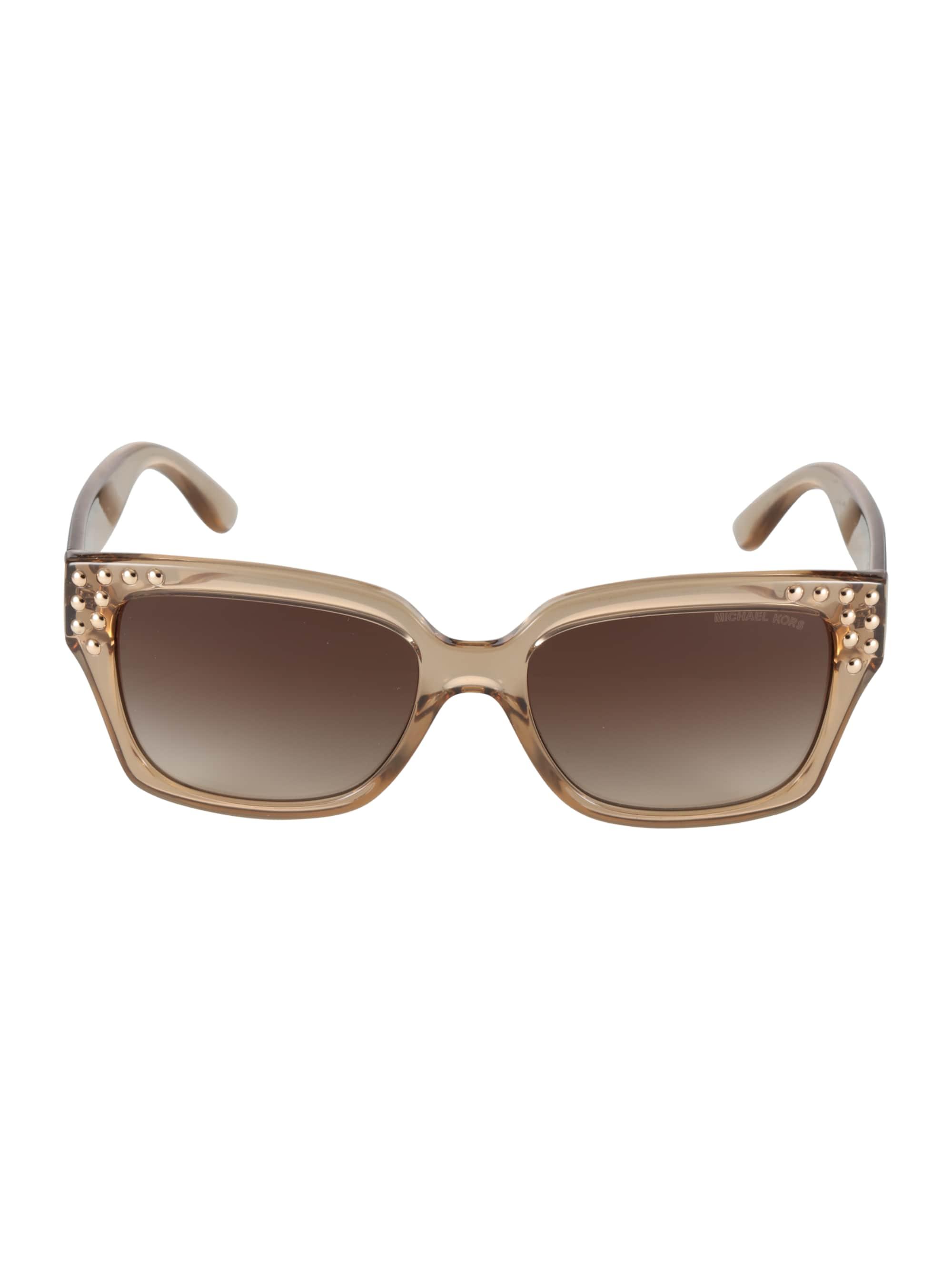 Michael Kors Okulary przeciwsłoneczne 'BANFF'  jasnobrązowy / przeźroczysty