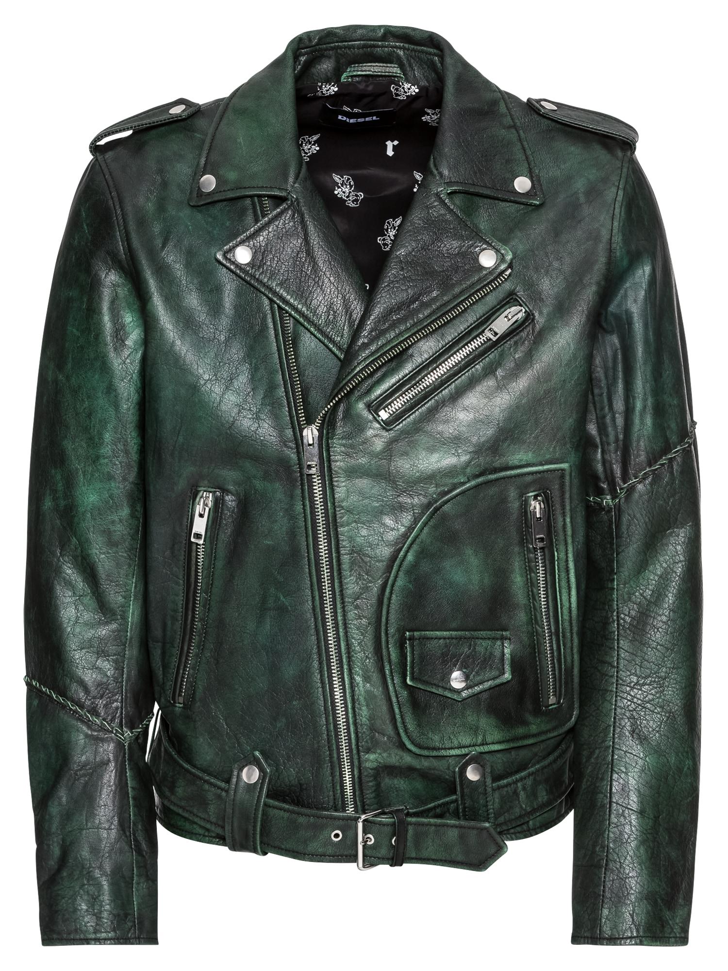 Přechodná bunda L-GRIME JACKE tmavě zelená DIESEL