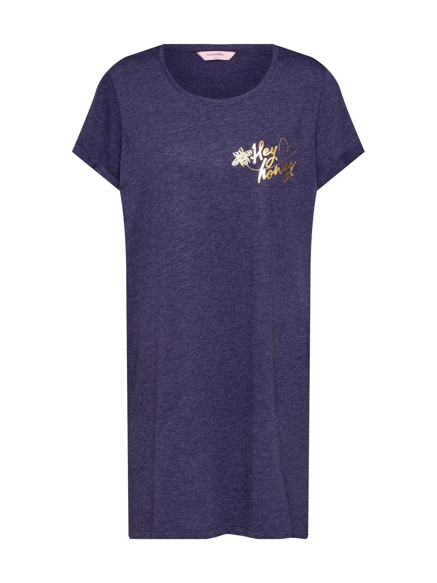 Noční košilka Nightie SS R-Neck Bee modrá Hunkemöller