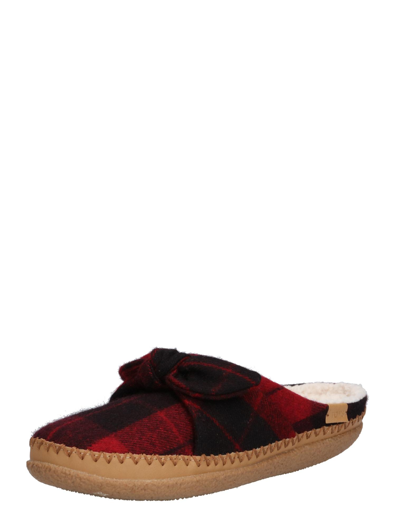 Pantofle červená černá TOMS