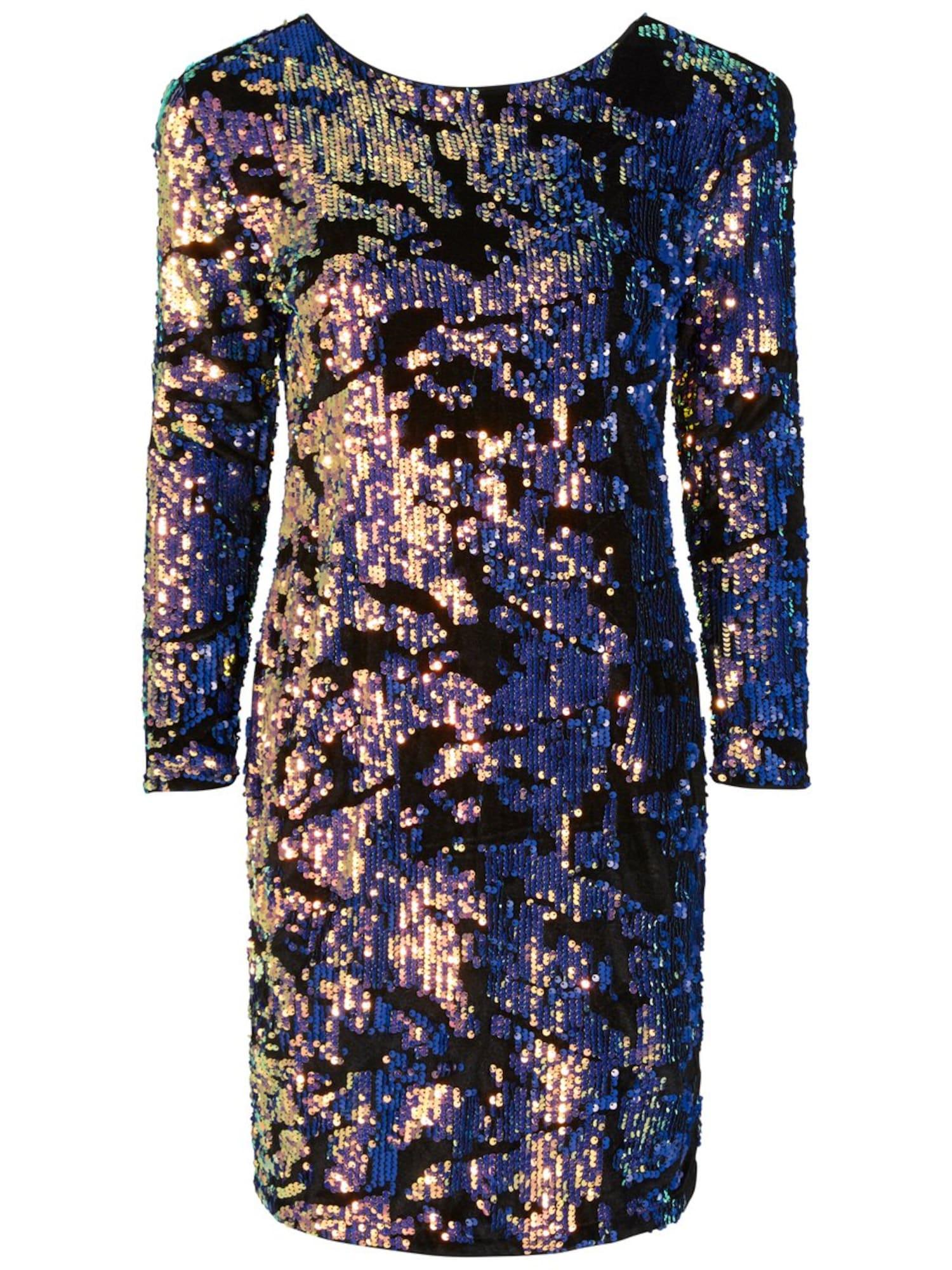 Šaty HANNAH SEQUIN fialkově modrá černá Y.A.S