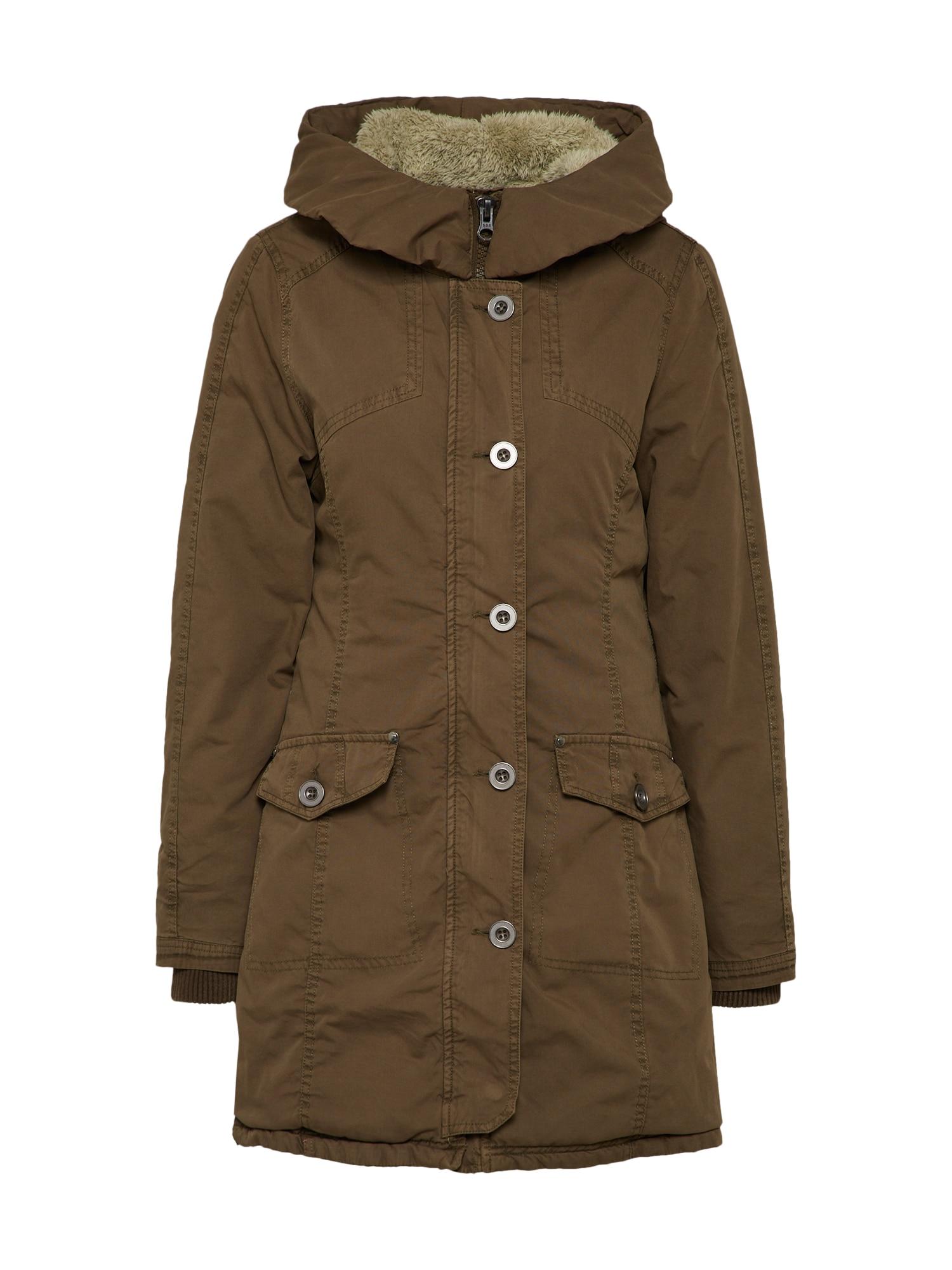 Zimní parka Ladies Garment Washed Long olivová Urban Classics